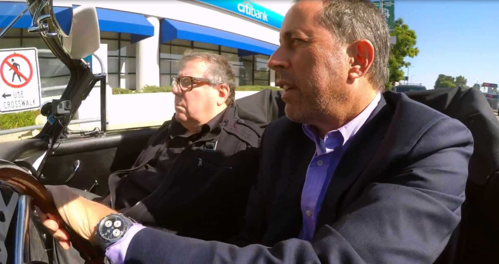Spotted - Jerry Seinfeld Vintage Rolex 6239 Daytona from Vic Elford on TV-show Comedians in Cars Getting Coffee