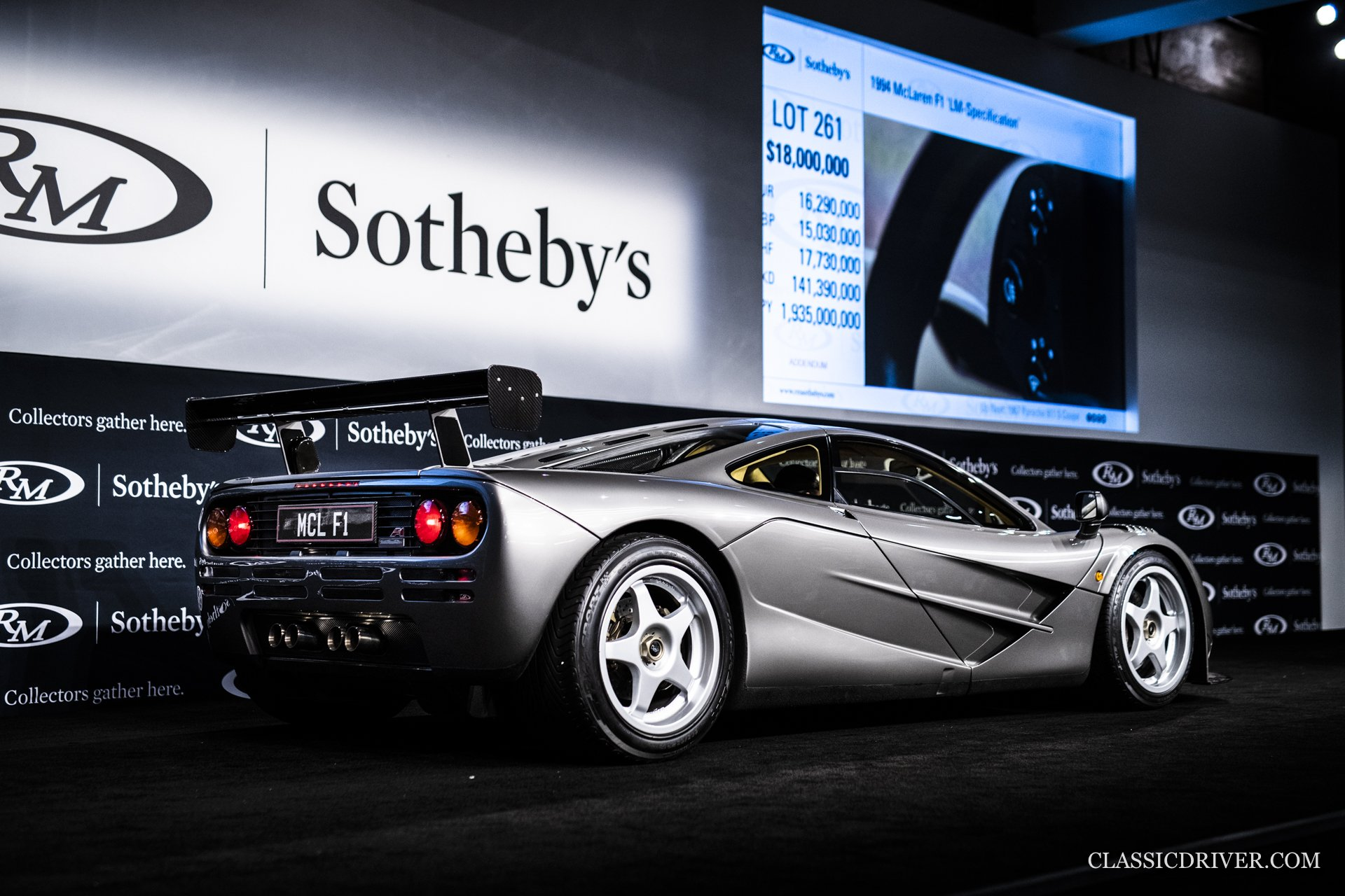 McLaren F1 'LM specification' RM Sothebys