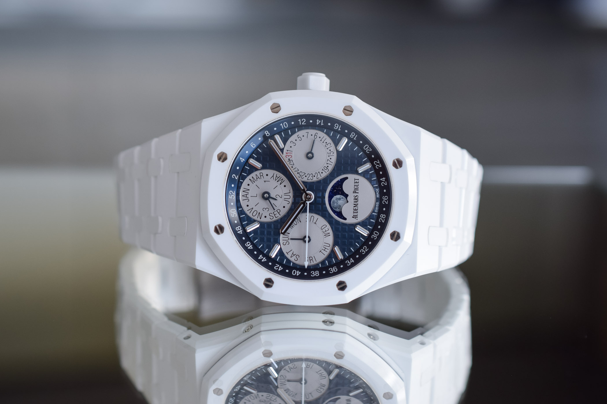 Audemars Piguet Royal Oak Perpetual Calendar White Ceramic 26579CB.OO.1225CB.01