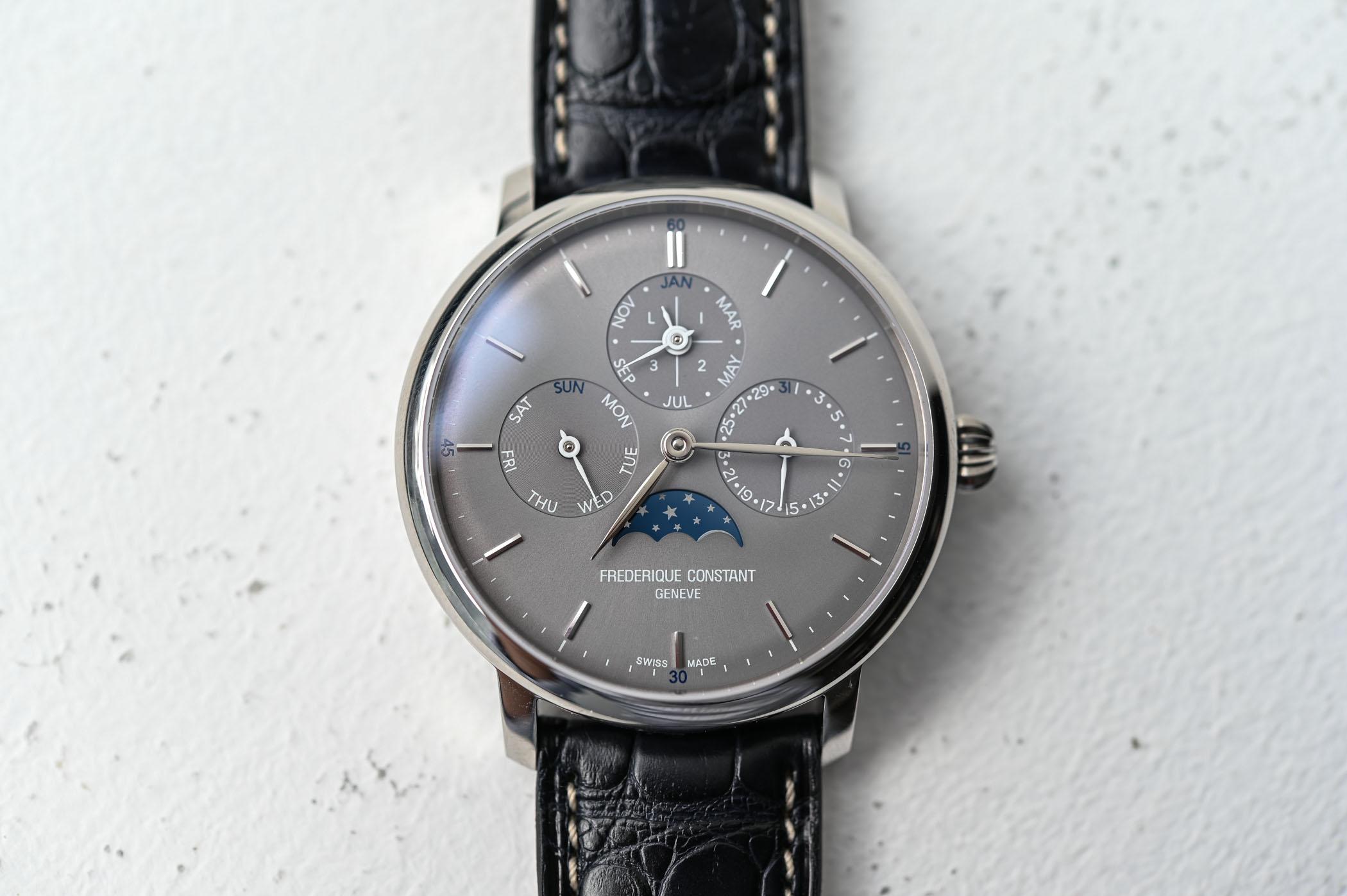 Frederique Constant Slimline Perpetual Calendar Manufacture Grey Dial