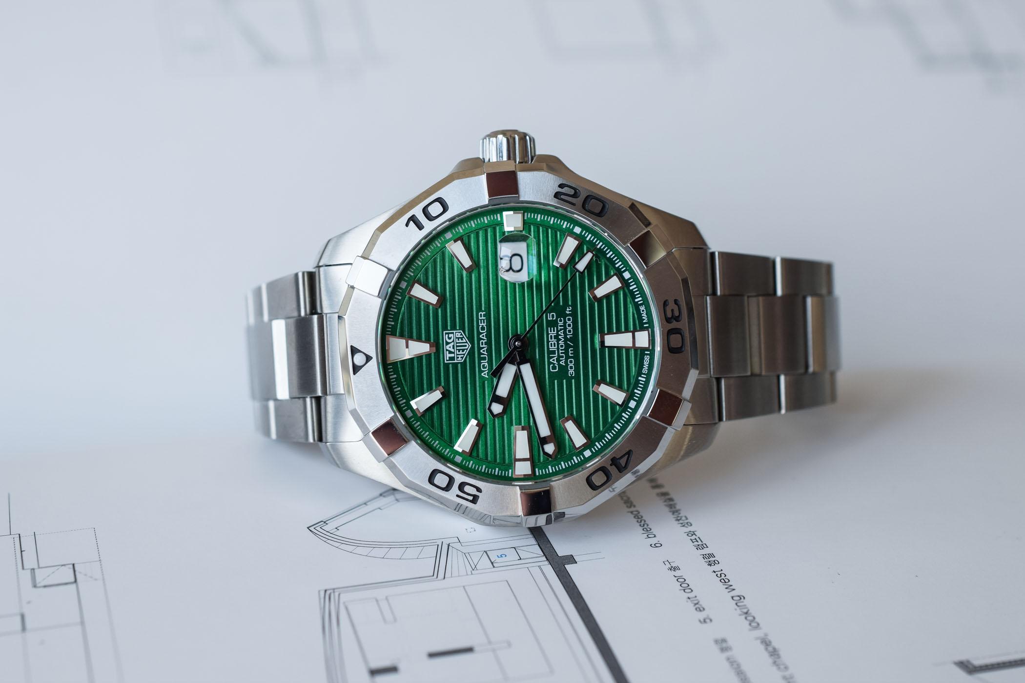 TAG Heuer Aquaracer Green Dial WAY2015-BA0927
