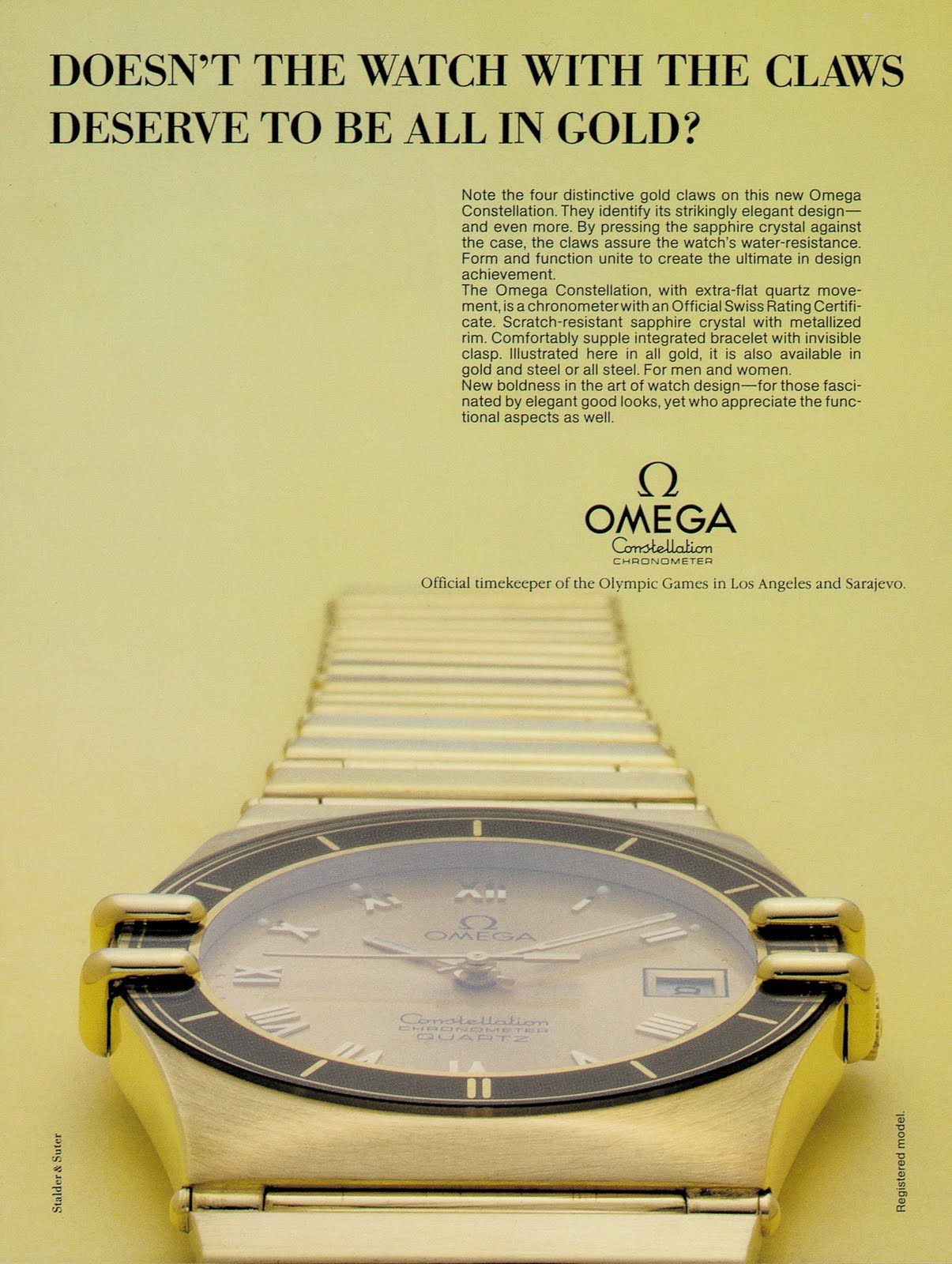 1982 Omega Constellation Manhattan Advertising