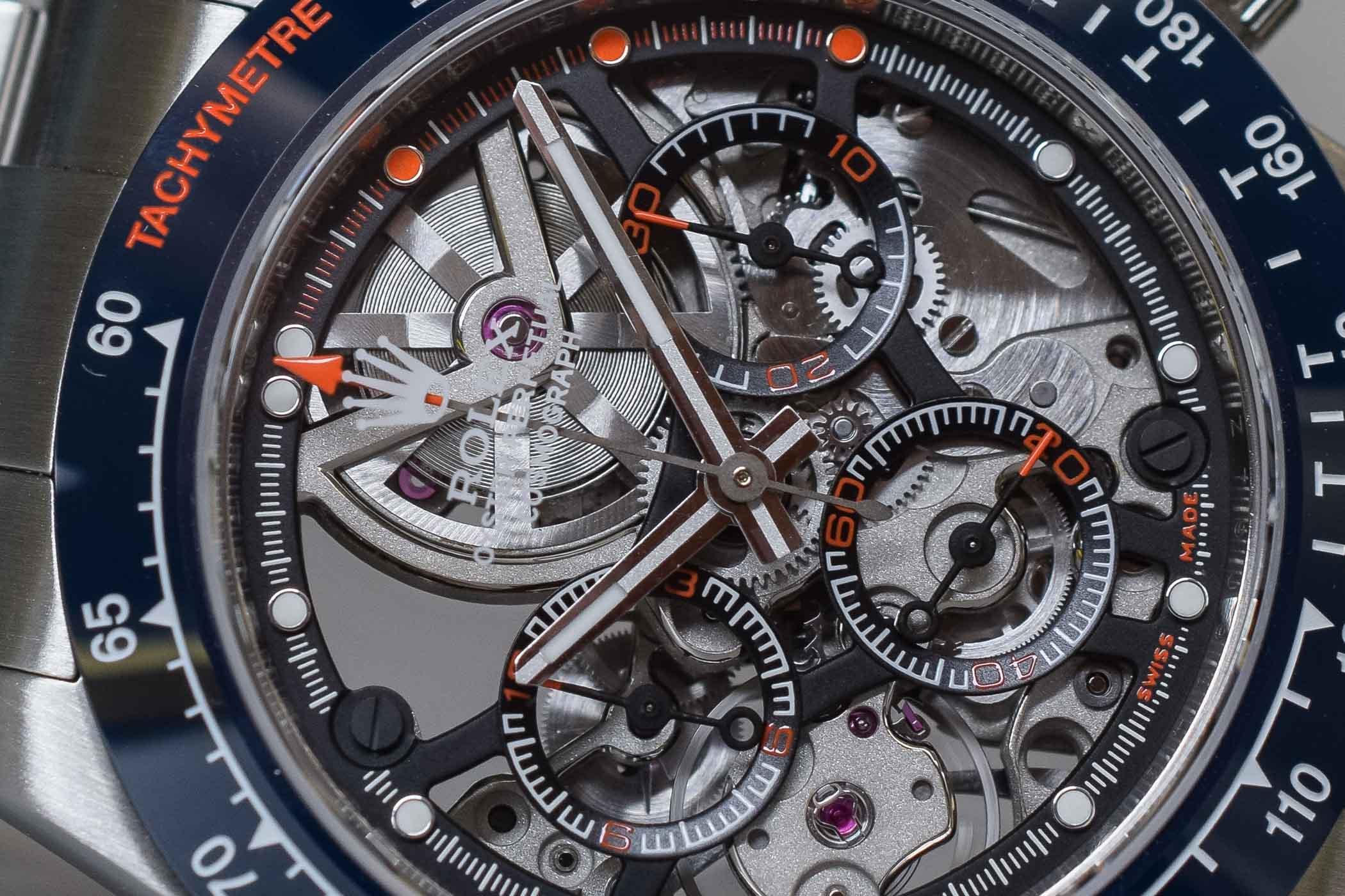 Artisans de Geneve La Blausee - Skeletonized and Hand-Wound Rolex Daytona 116520