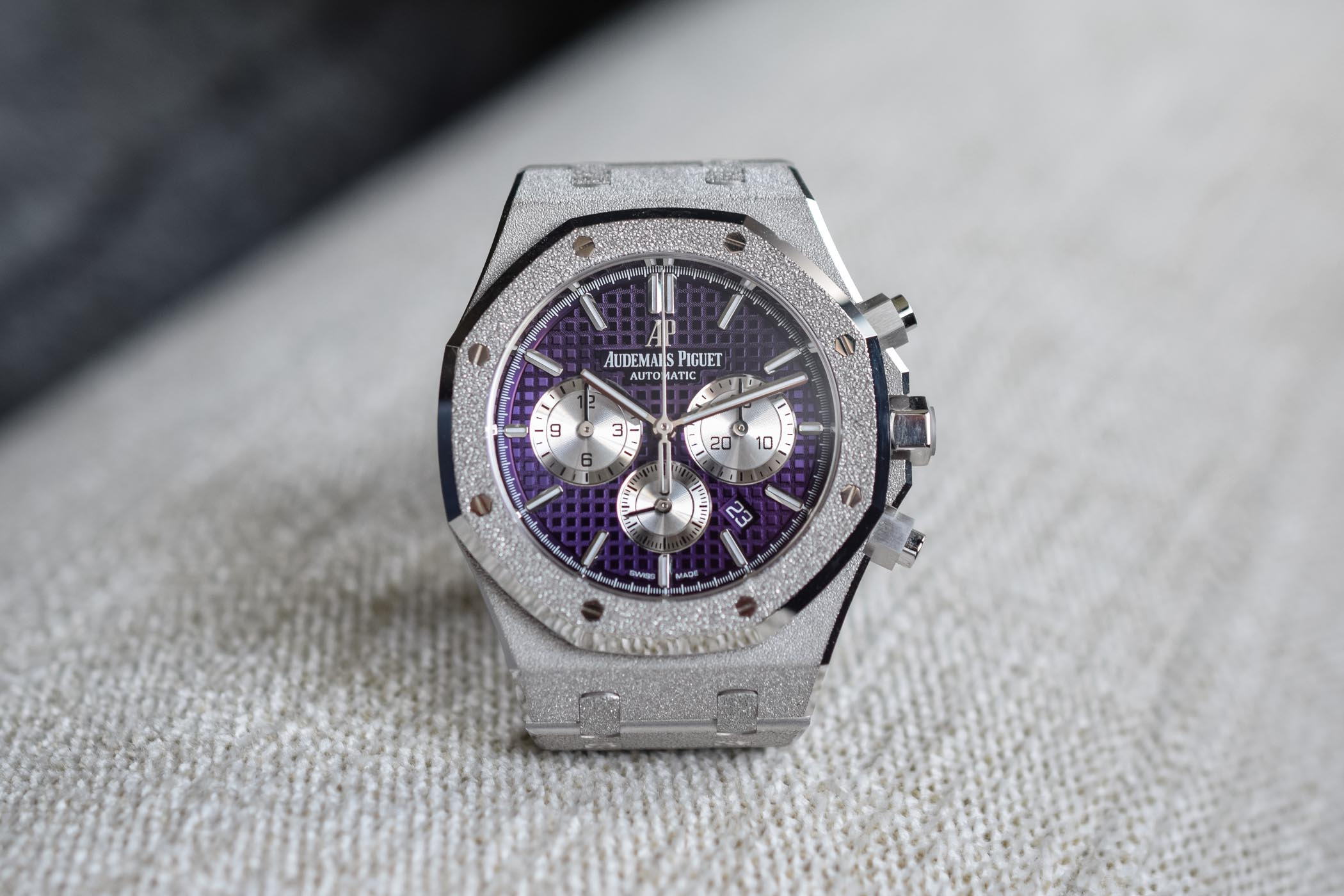 Audemars Piguet Royal Oak Chronograph Frosted Gold Purple
