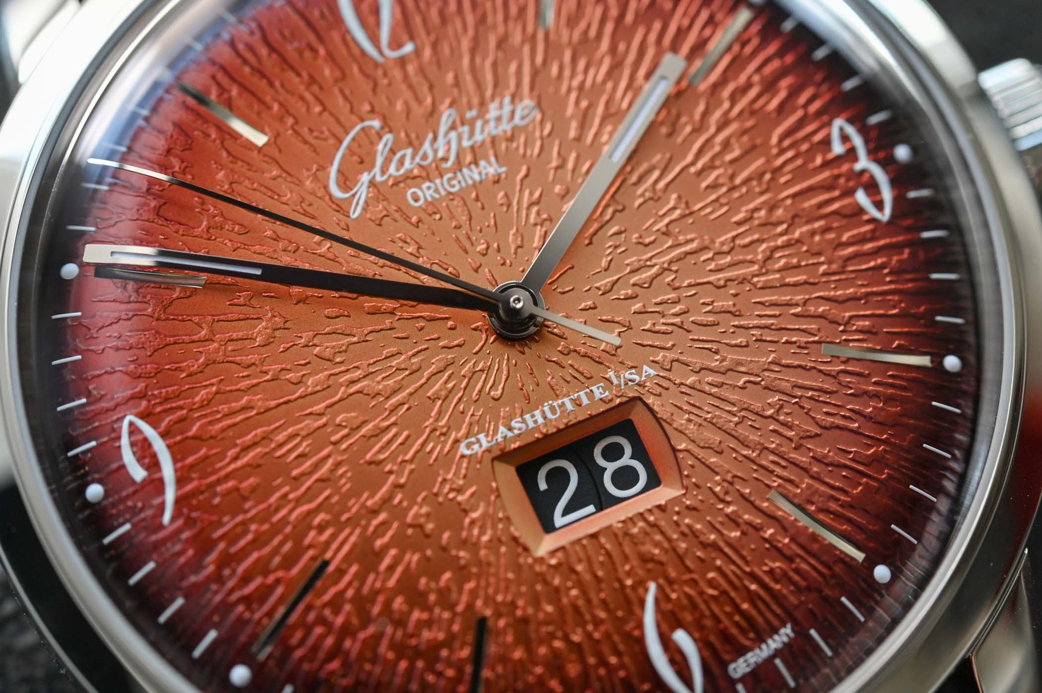 Glashutte Original Sixties Panorama Date Annual Edition Fiery Orange