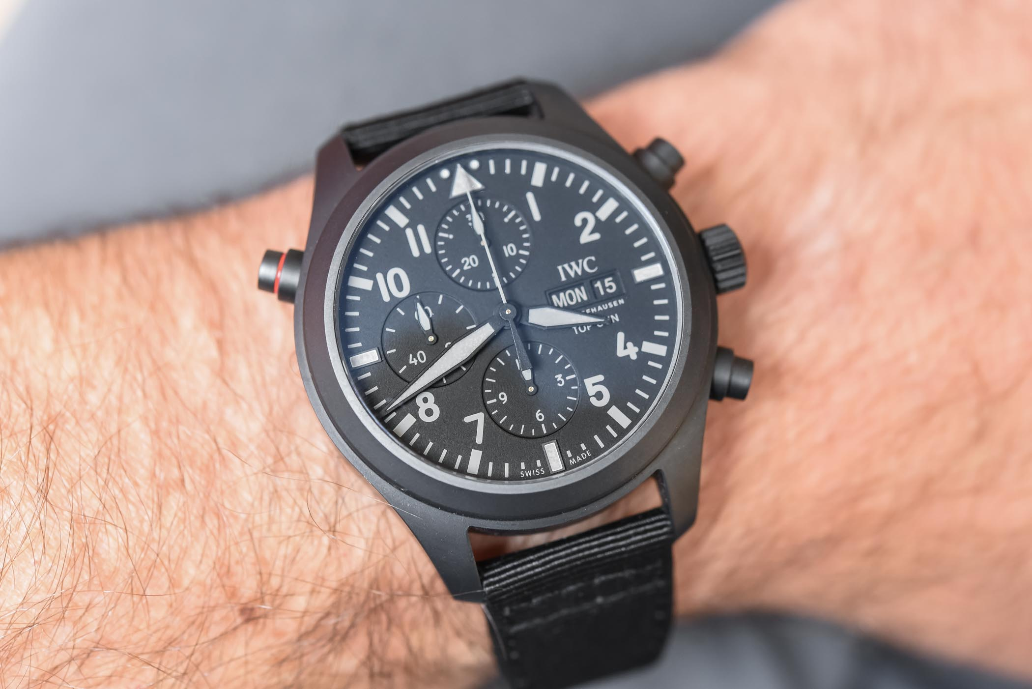IWC Pilot's Watch Double Chronograph TOP GUN Ceratanium IW371815