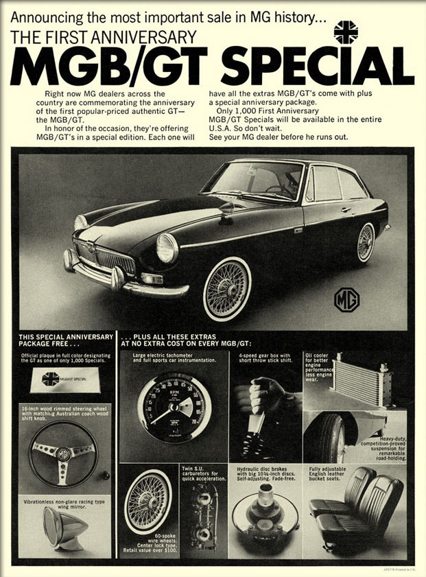 MGB vintage advert - 2