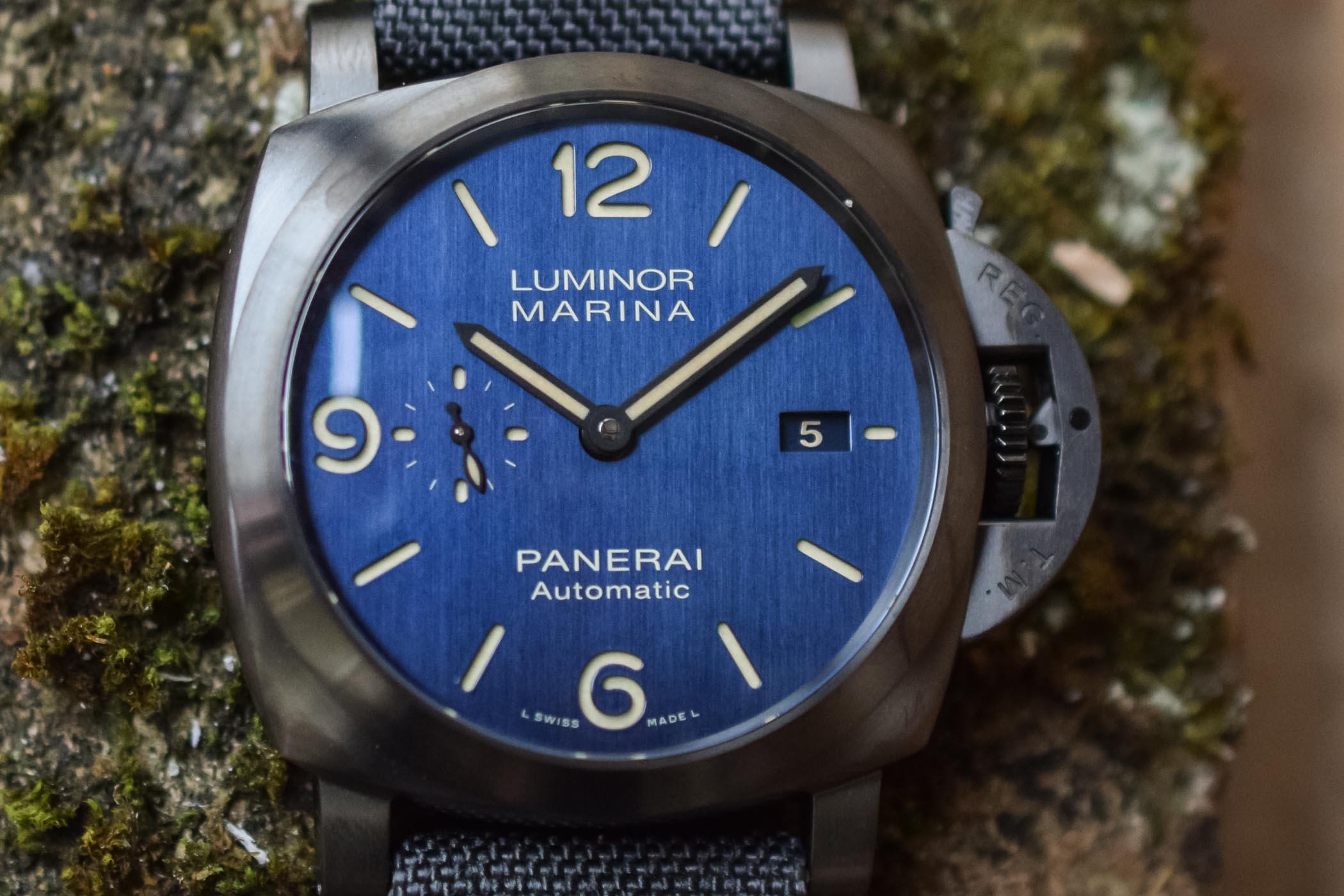 Panerai Luminor Marina Titanio-DLC Bucherer BLUE PAM0102