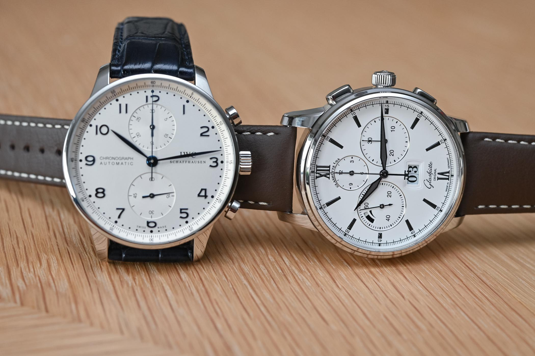 The Battle of Automatic Chronographs - IWC vs. Glashutte Original
