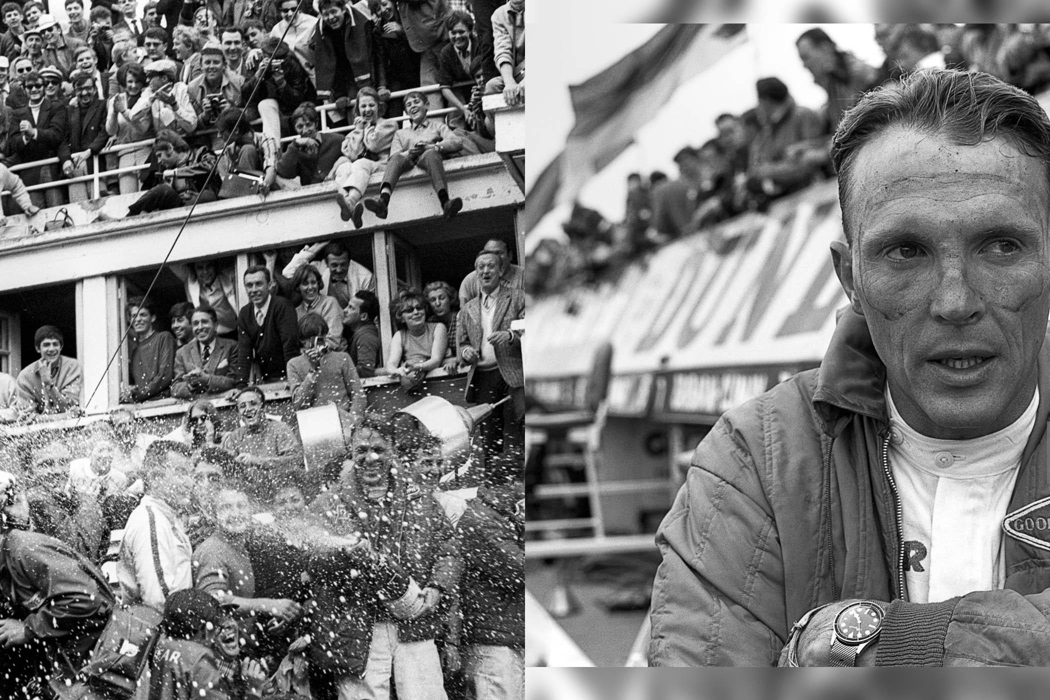 The Petrolhead Corner - Racing Driver Dan Gurney, The Original Podium Champagne Sprayer and His Breguet Diver & Rolex 6234