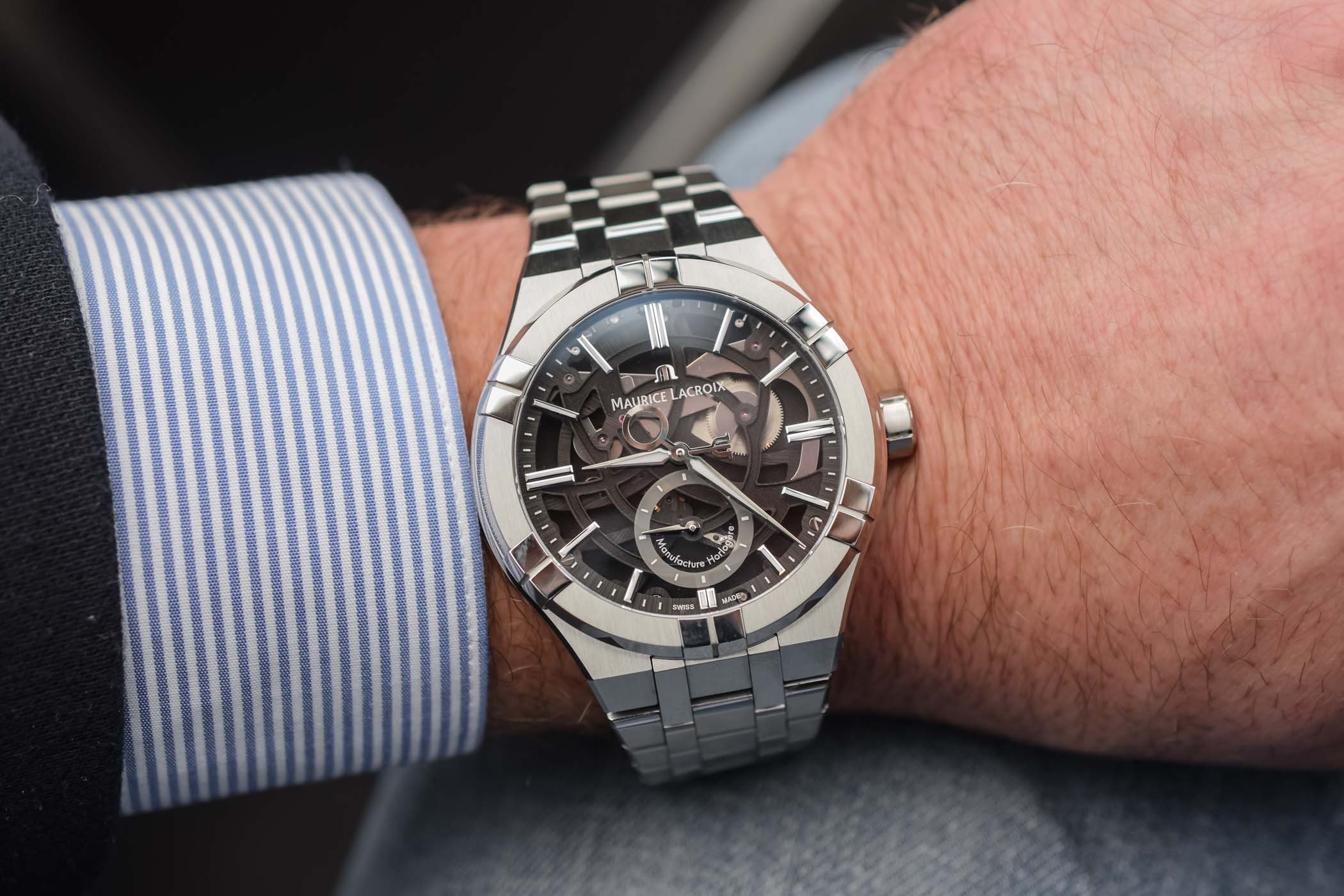 VIDEO - Discovering the Maurice Lacroix Aikon Mercury with Patented Free-Hand Display