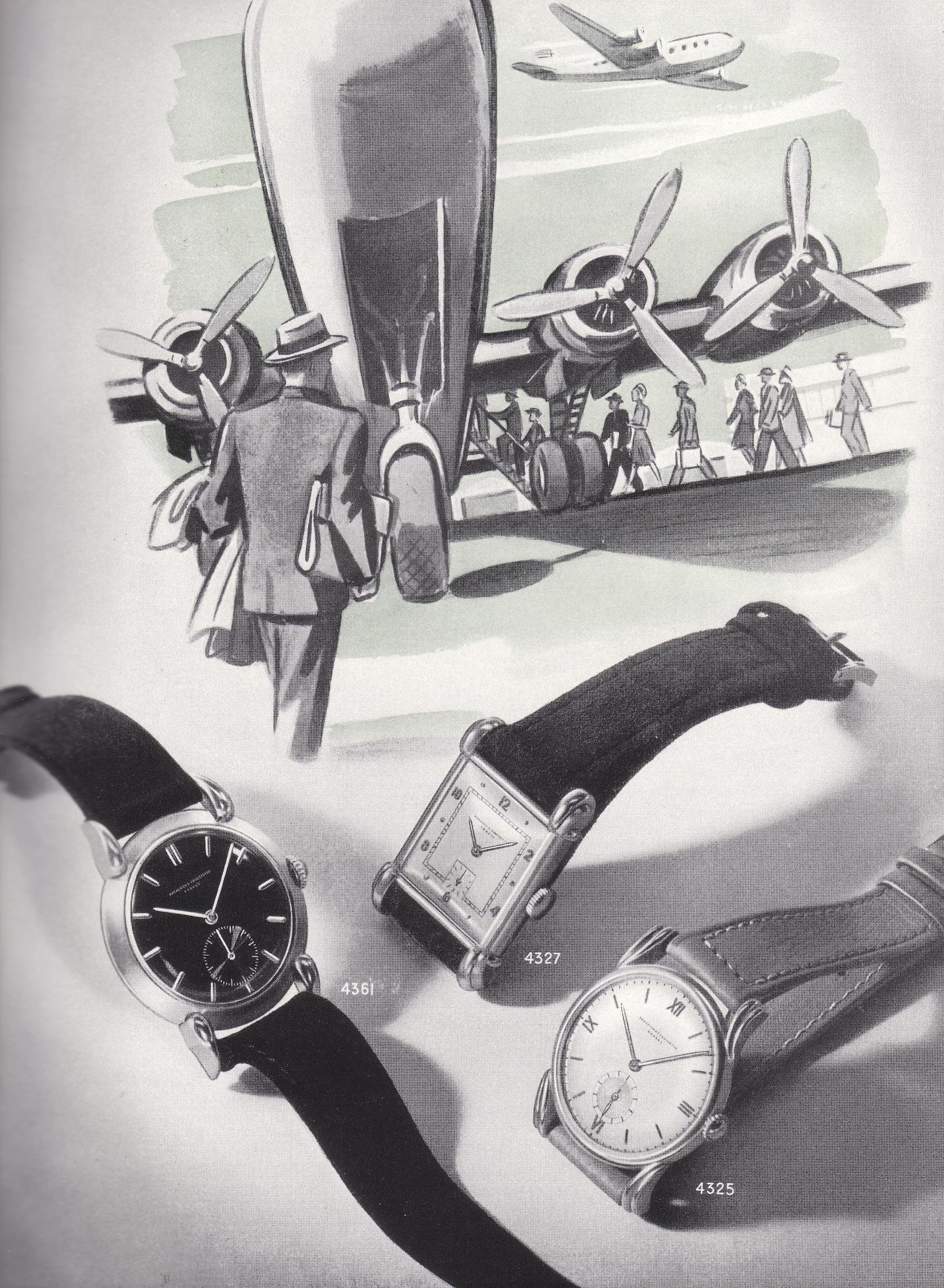 Vacheron Constantin Cornes de Vache Chronograph vintage advert - 1
