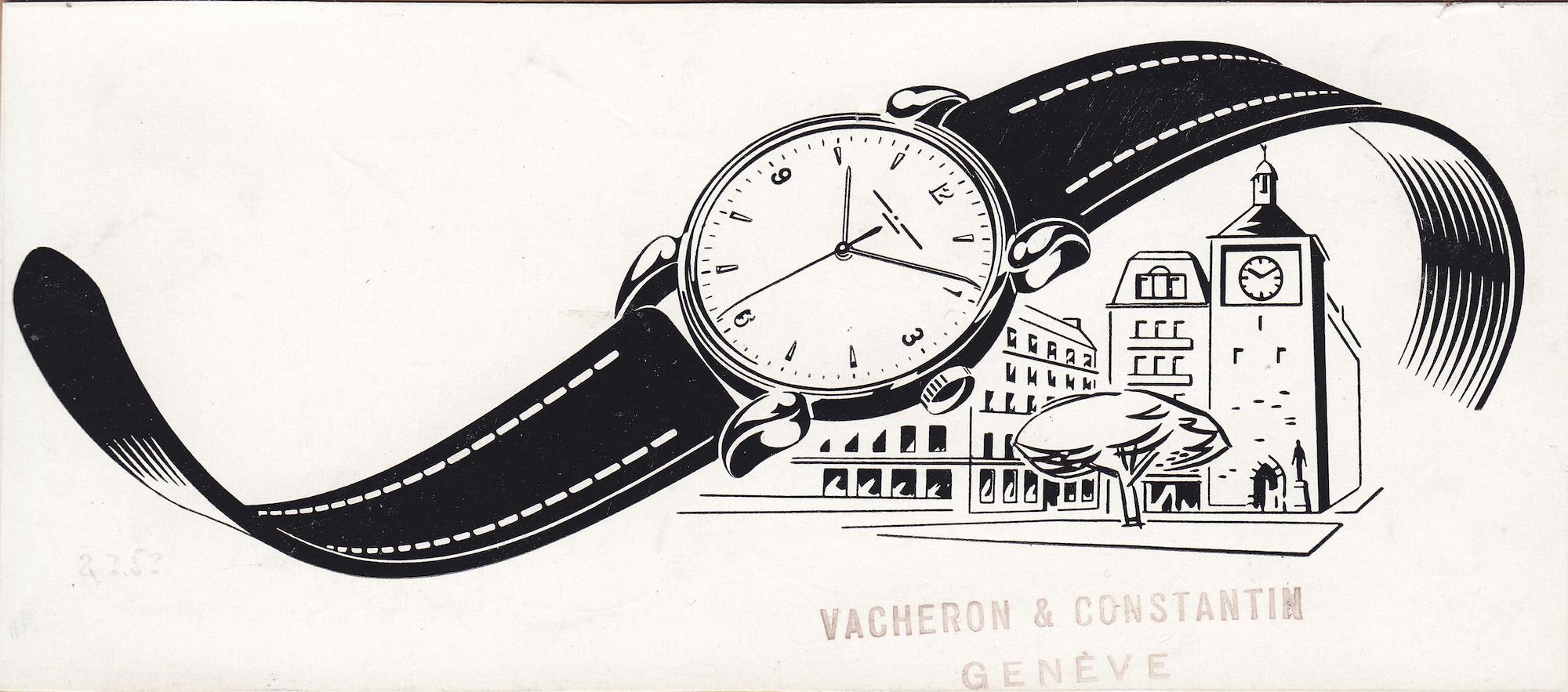 Vacheron Constantin Cornes de Vache Chronograph vintage advert - 2