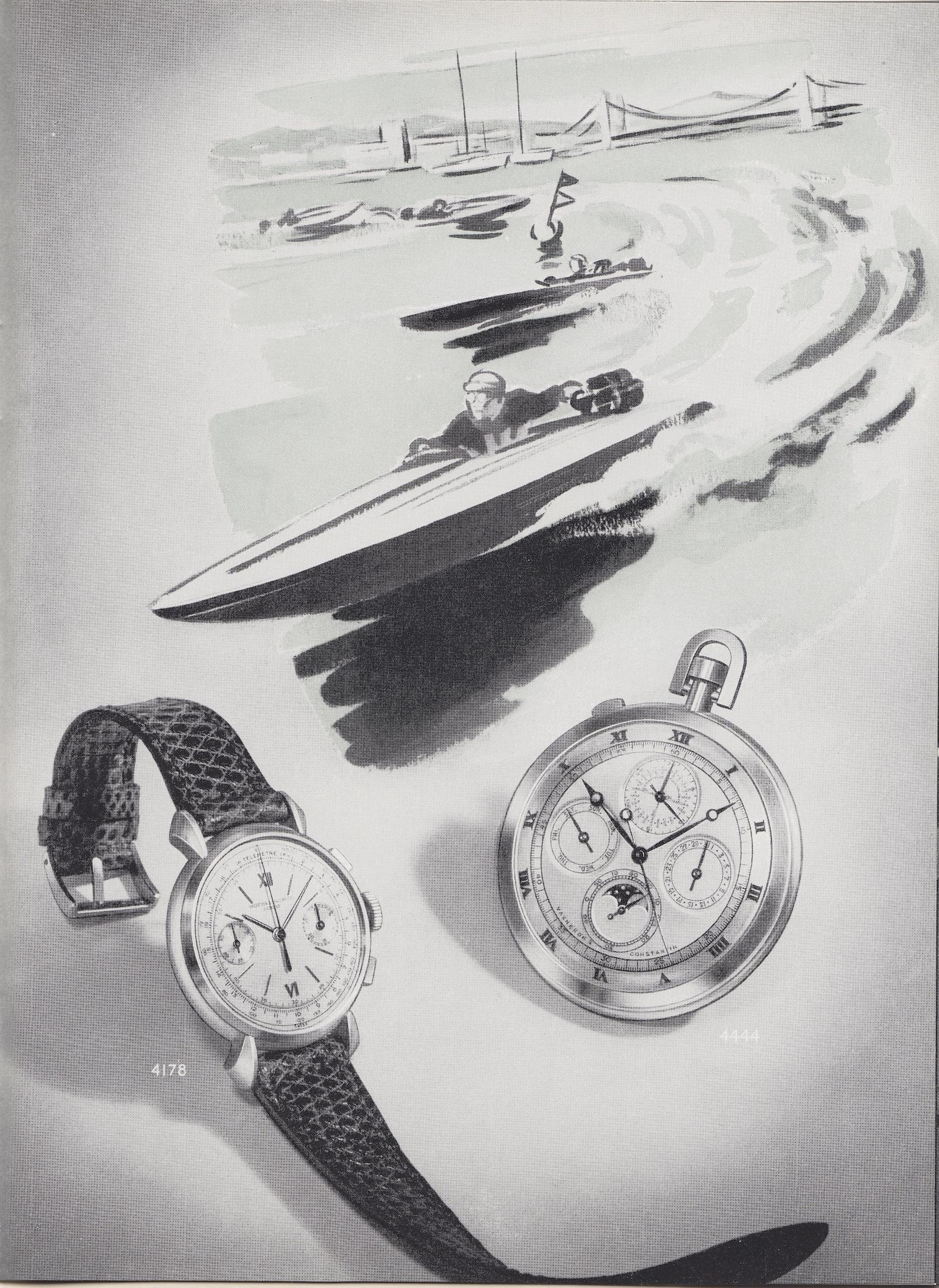 Vacheron Constantin Cornes de Vache Chronograph vintage advert - 3
