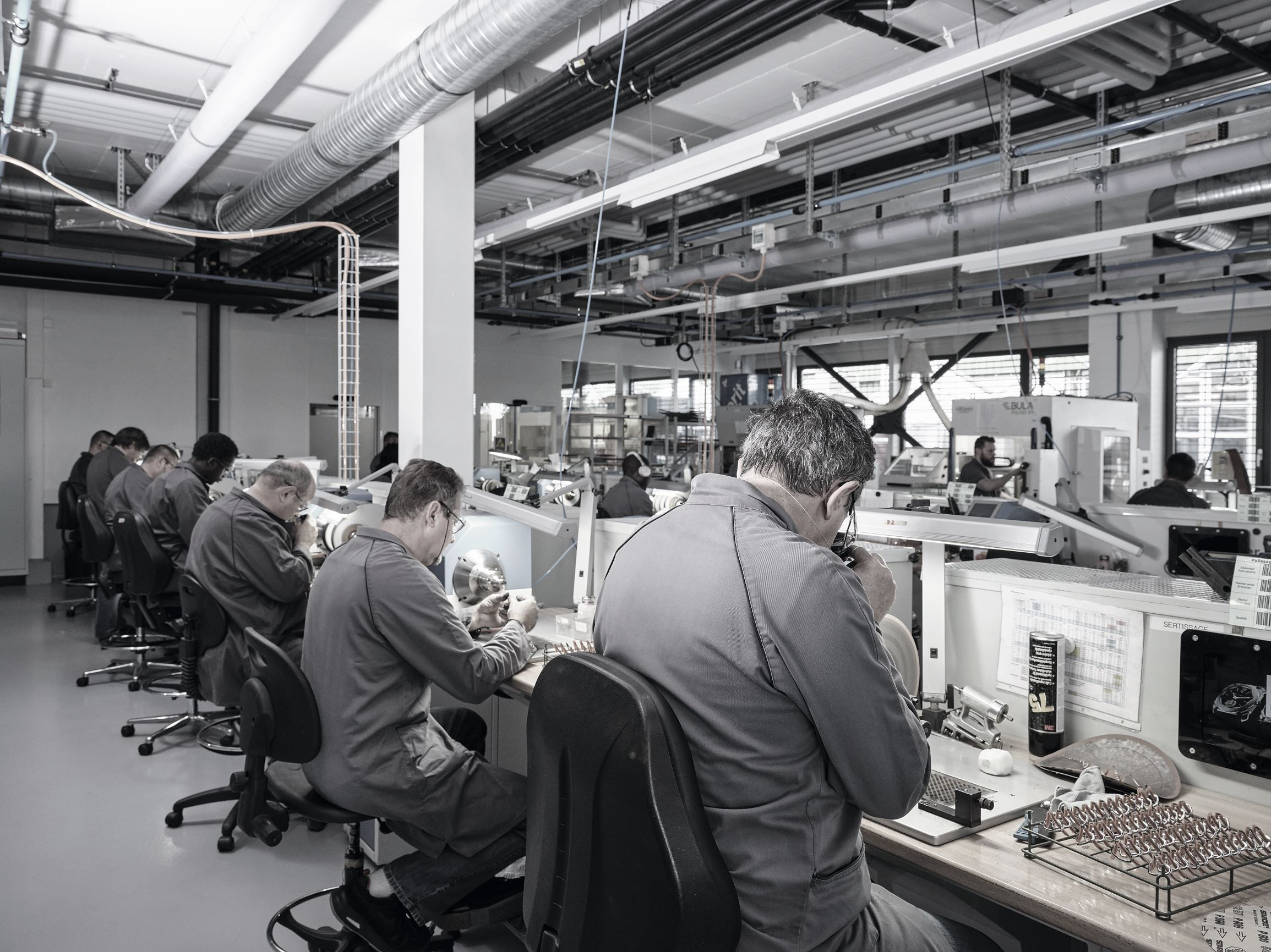Bulgari manufacture polishing