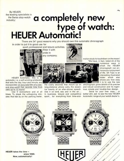Heuer Calibre 11 Automatic chronograph advert