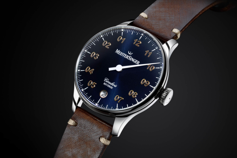 MeisterSinger Circularis Reverse – Time Displayed in an Unexpected Way