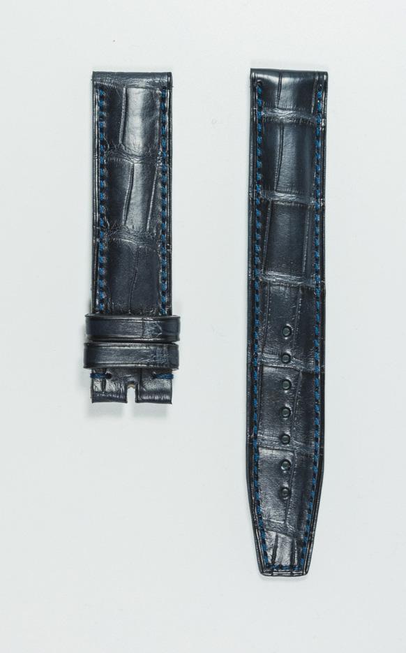 Monochrome hand-made alligator straps