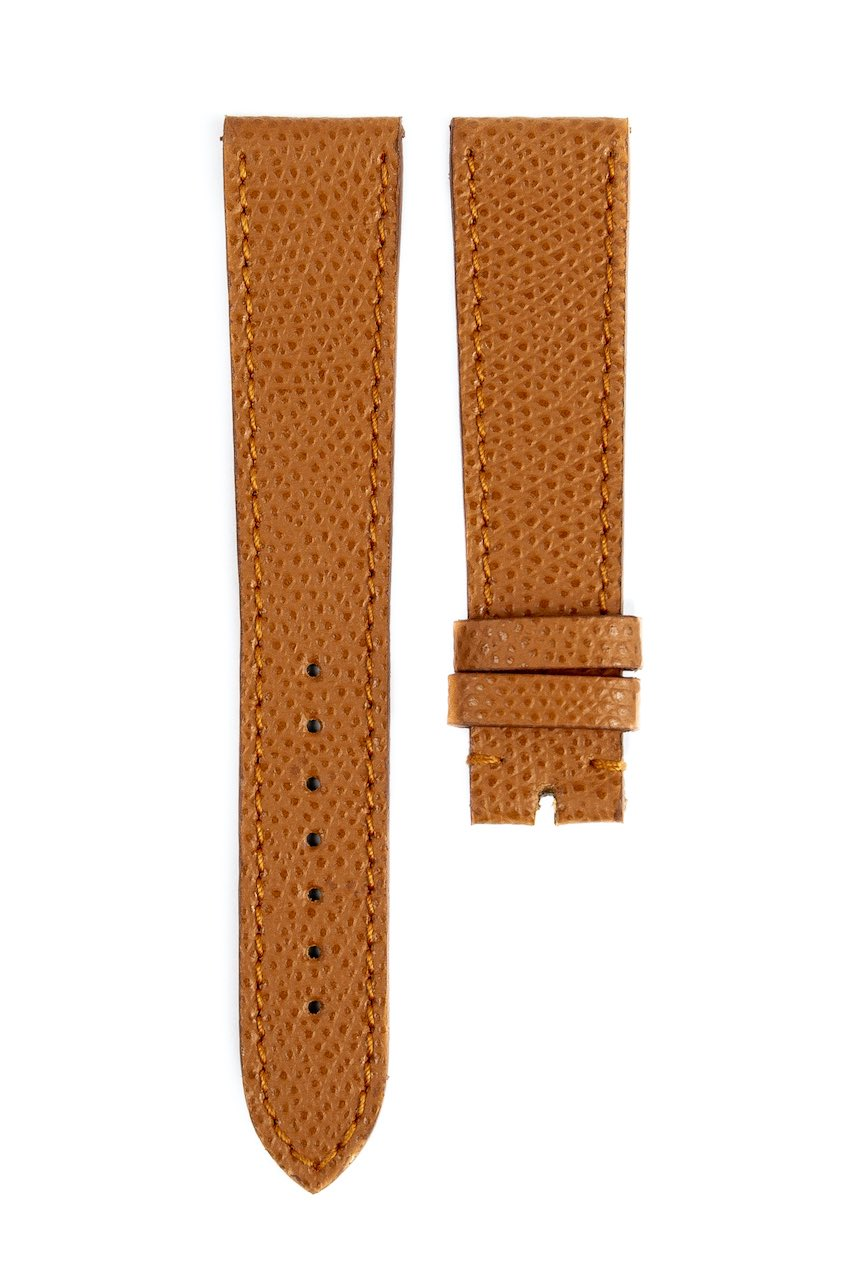 Monochrome hand-made grained calfskin straps - 11