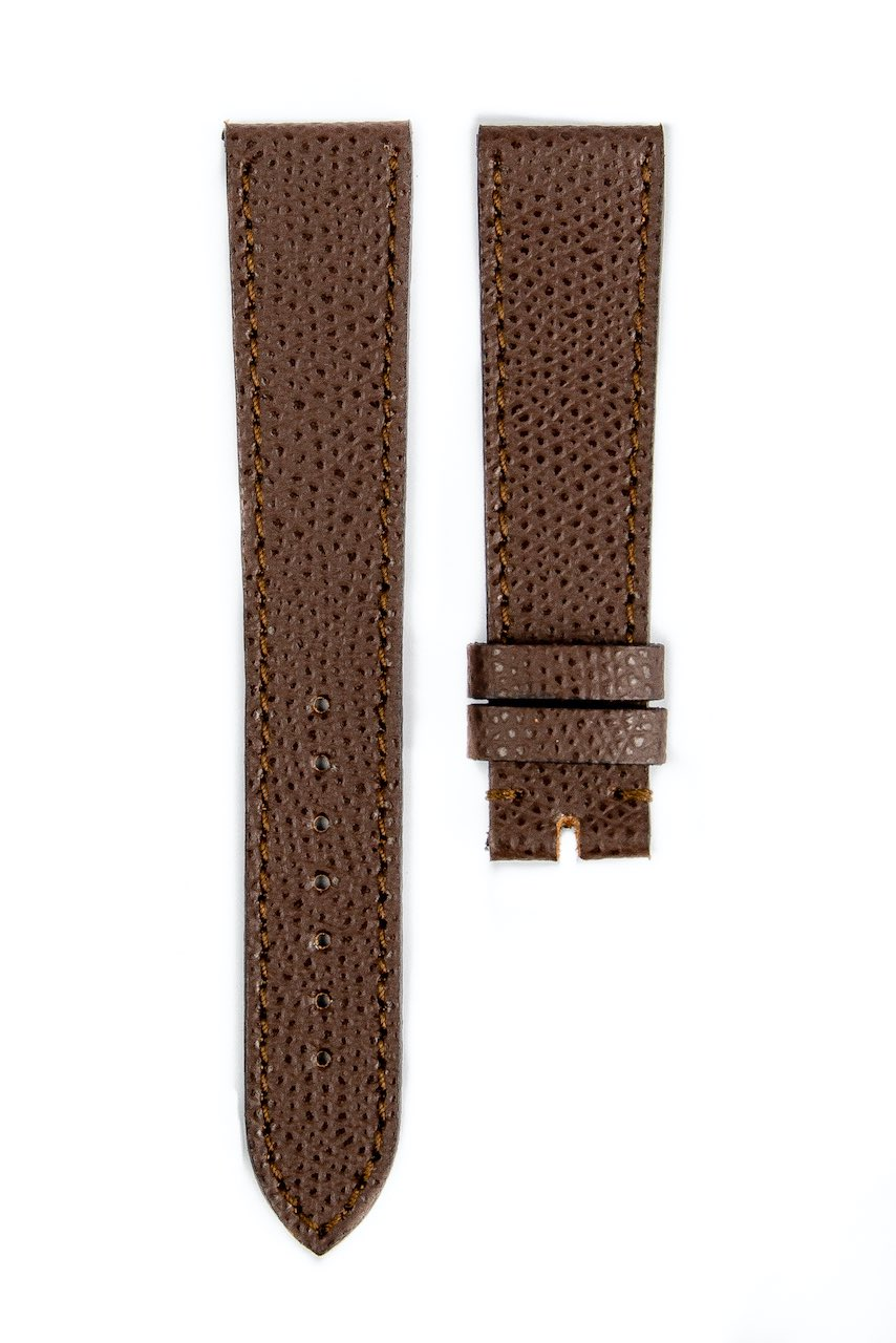 Monochrome hand-made grained calfskin straps - 12