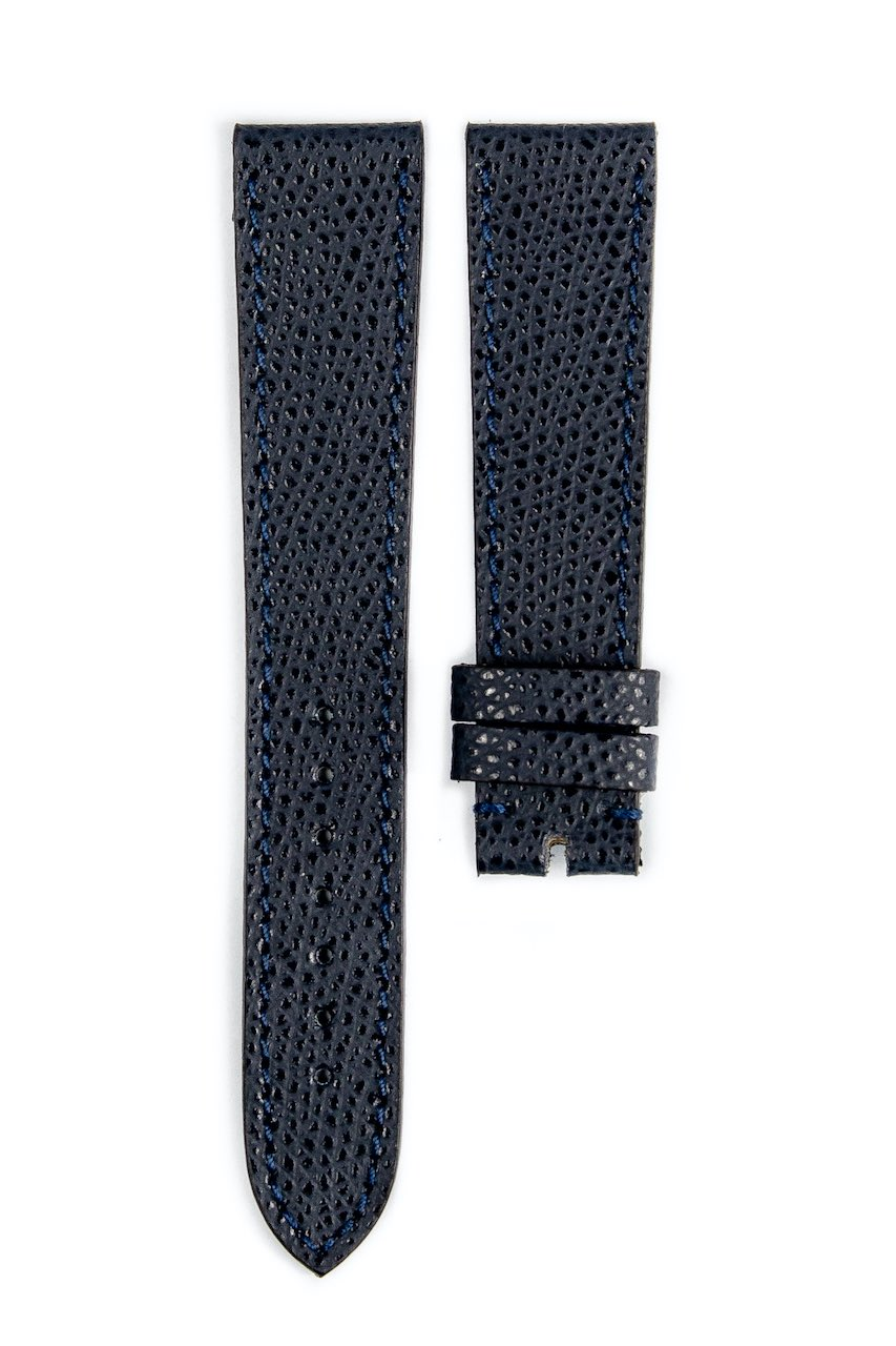 Monochrome hand-made grained calfskin straps - 13