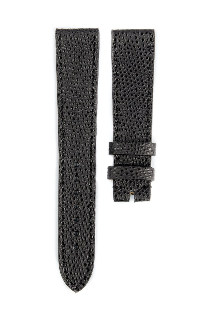 Monochrome hand-made grained calfskin straps - 14
