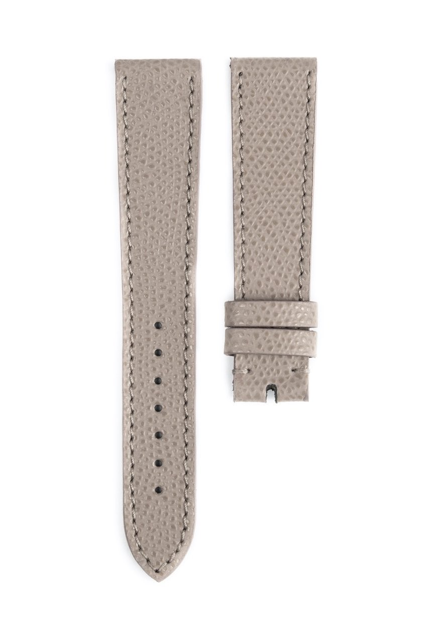 Monochrome hand-made grained calfskin straps - 15