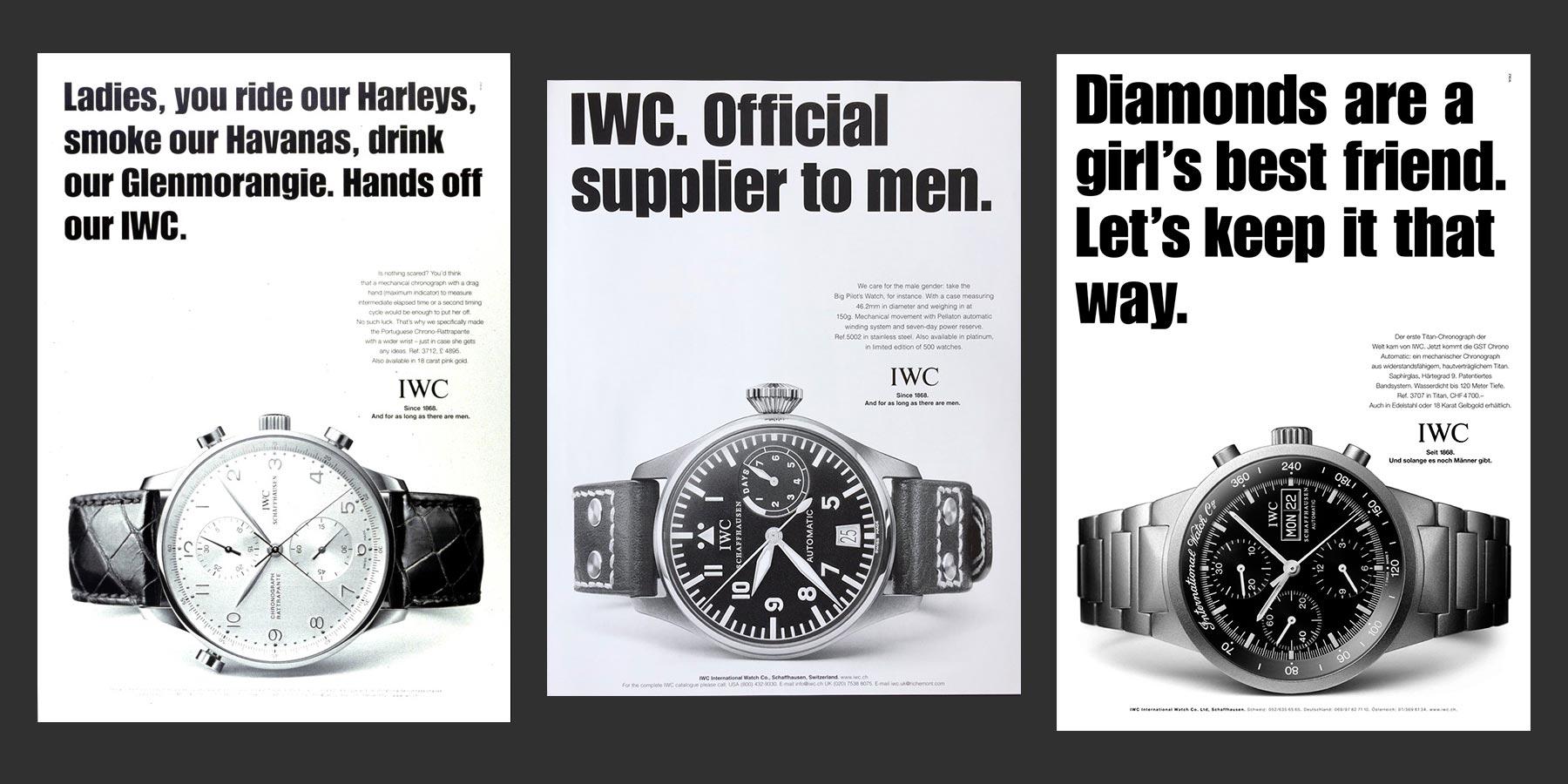 iwc advertisements