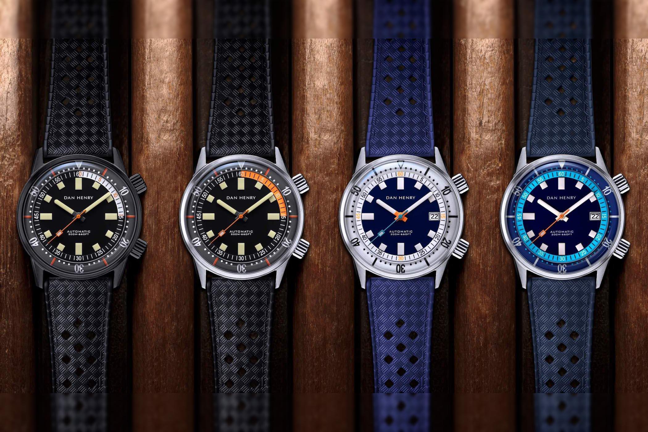 Dan Henry 1970 Automatic Diver 40mm New Colours
