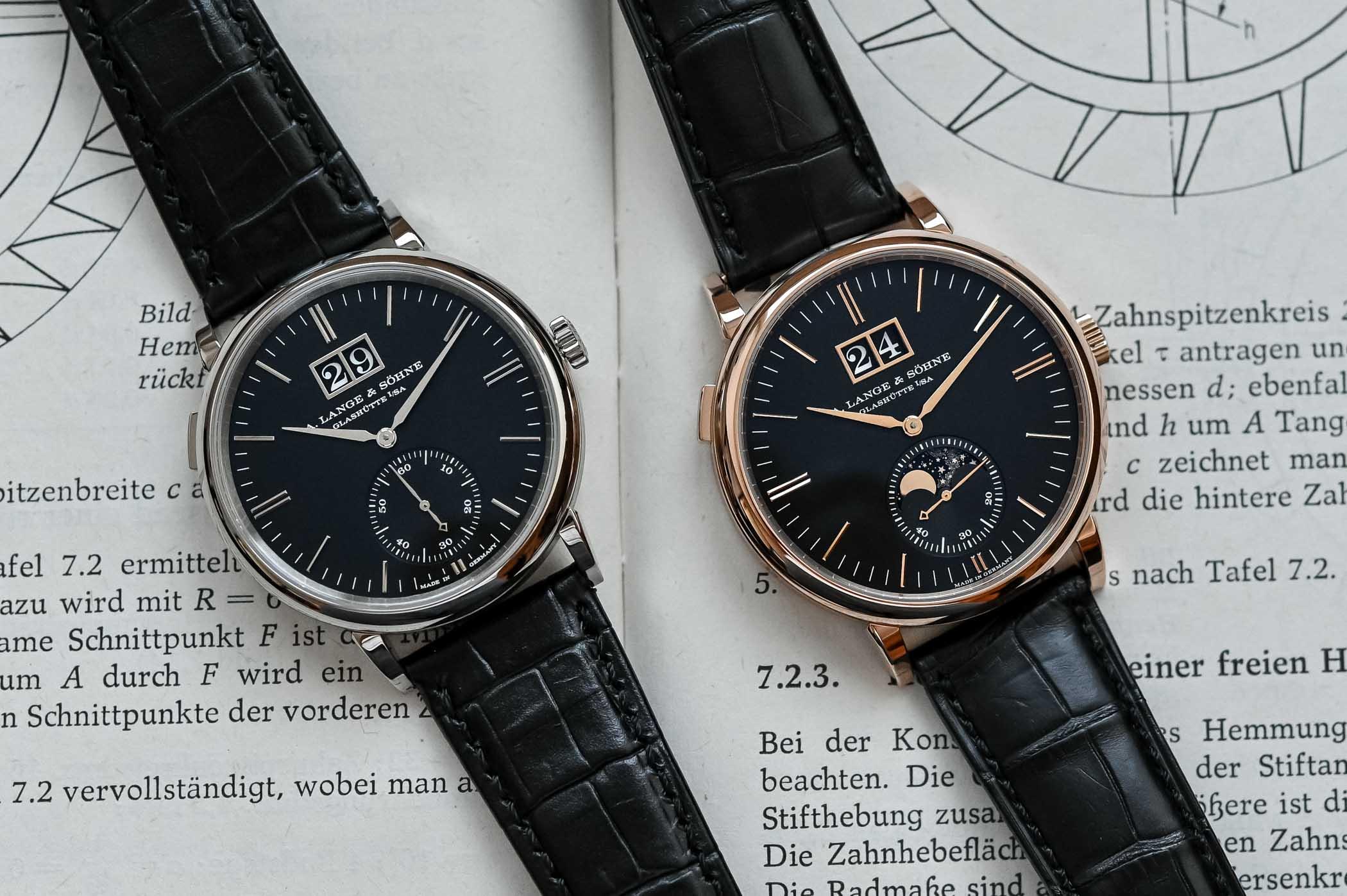A. Lange & Söhne Phase de lune de la Saxe contre date hors normes
