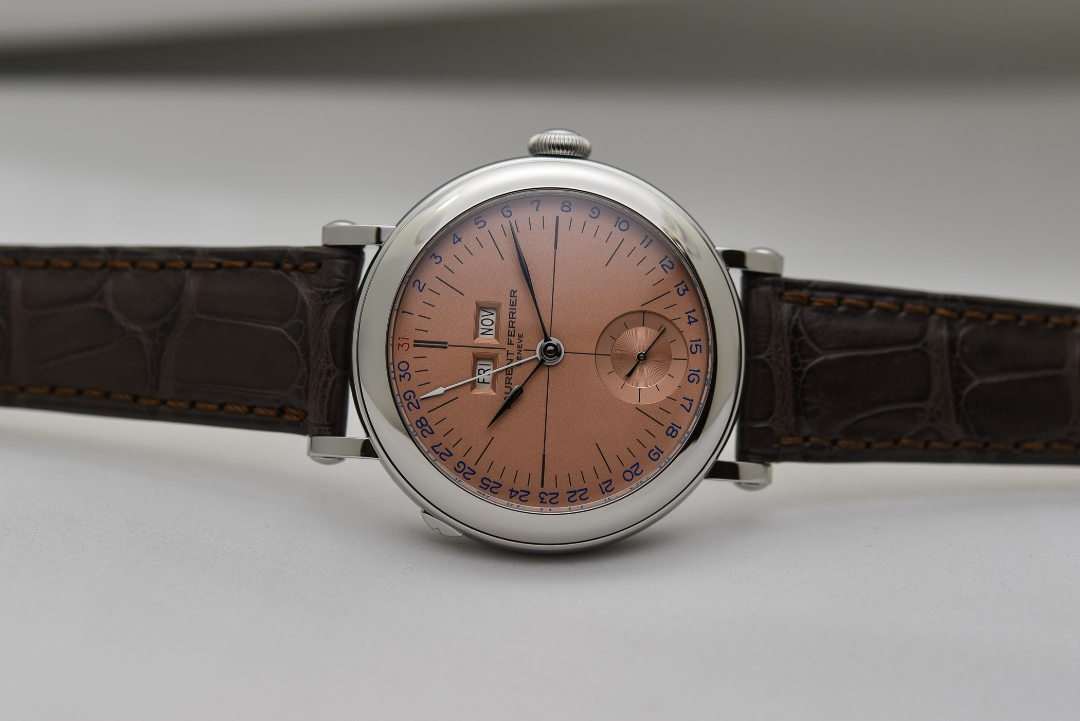 Laurent Ferrier Galet Annual Calendar School Piece Geneva Edition Salmon Dial