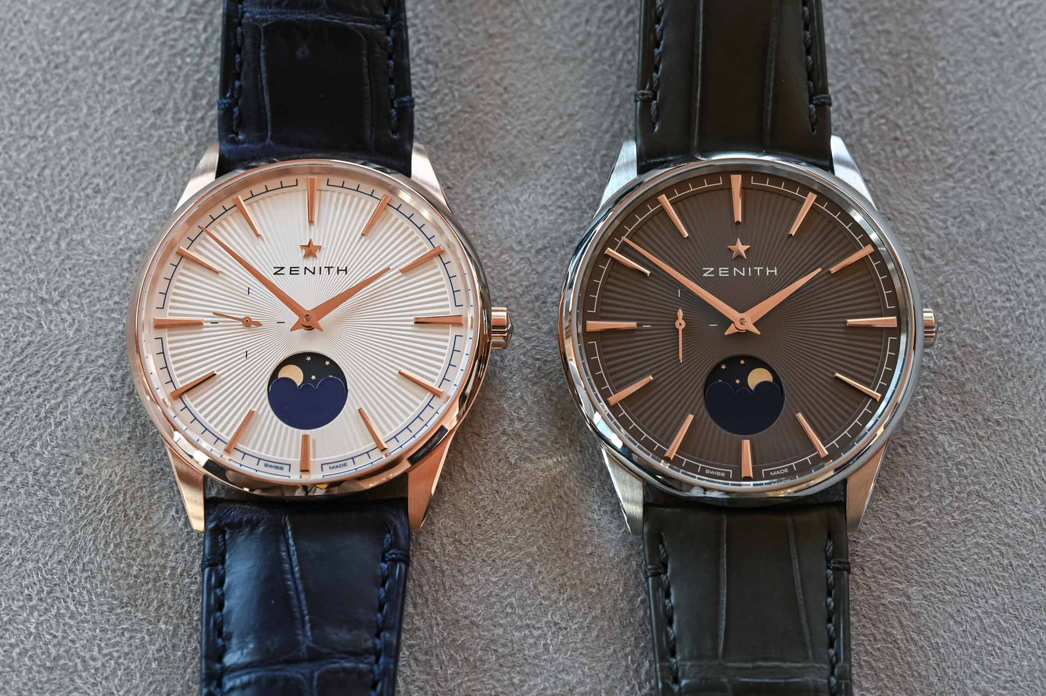 2020 Zenith Elite Moonphase 40.5mm Rose Gold and Steel