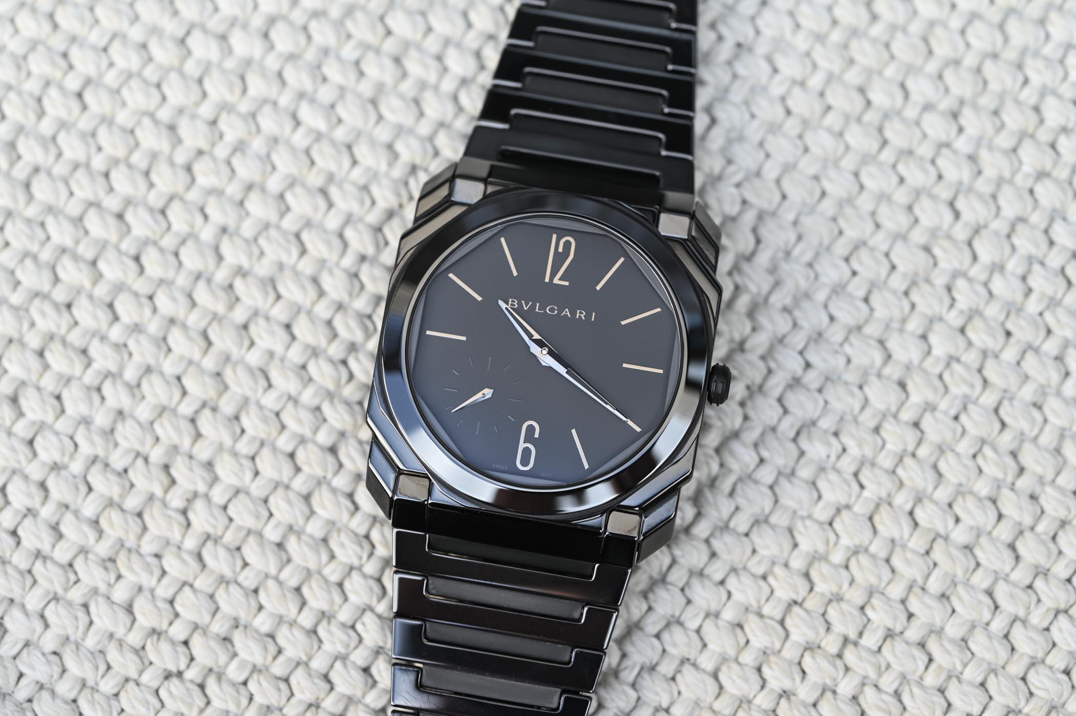Bvlgari Octo Finissimo Automatic Black Sandblast-Polished Ceramic