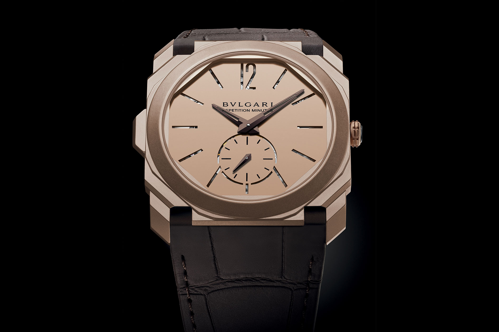 Bvlgari Octo Finissimo Minute Repeater Rose Gold Sandblasted