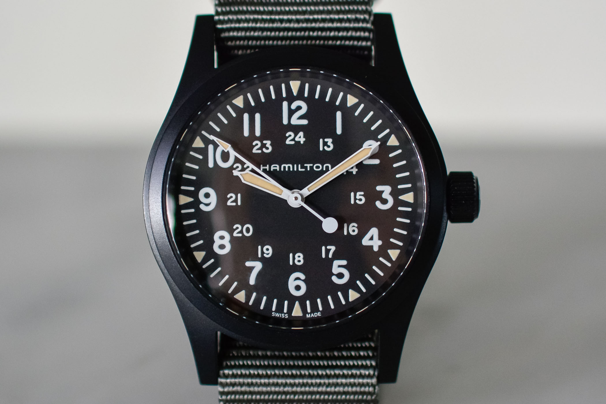 Hamilton Khaki Field Mechanical 38mm Black PVD