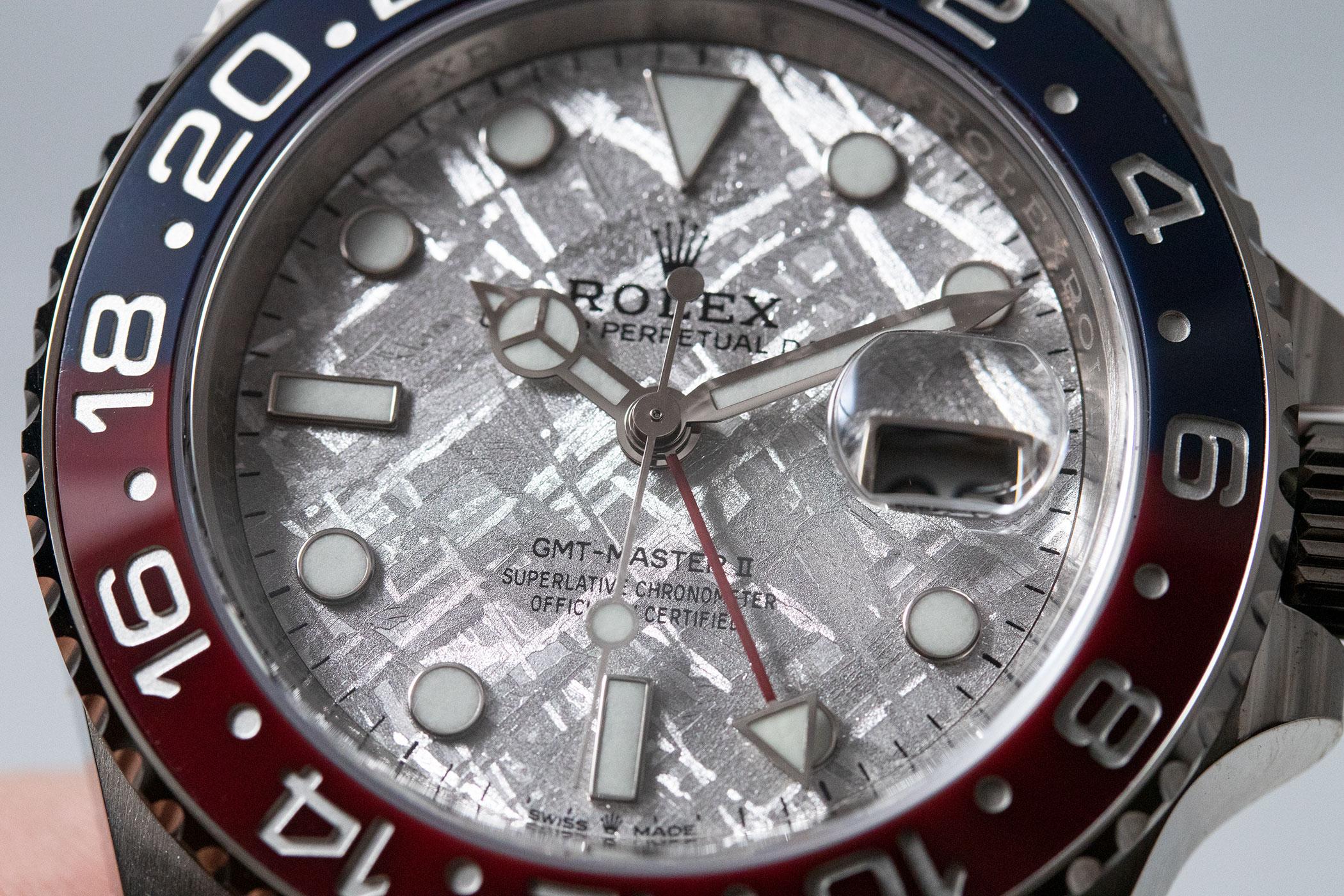 Rolex GMT-Master II 126719BLRO White Gold Pepsi Meteorite
