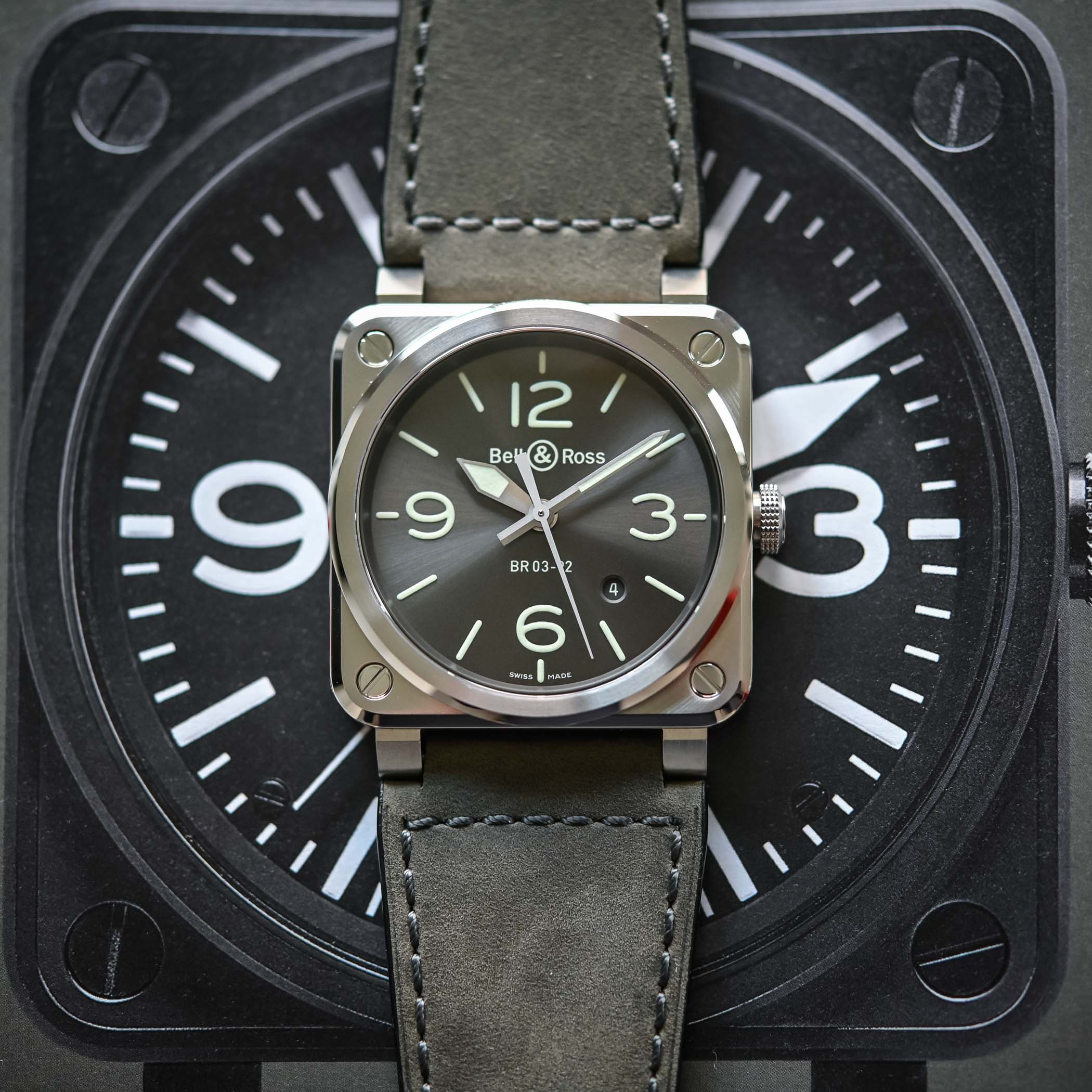 Bell and Ross BR 03-92 GREY LUM - 2