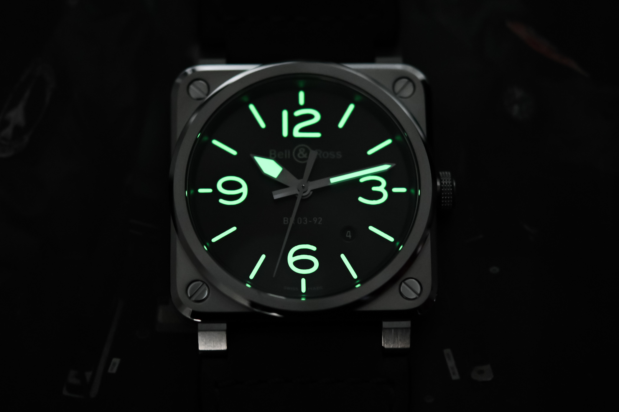 Bell and Ross BR 03-92 GREY LUM - 4