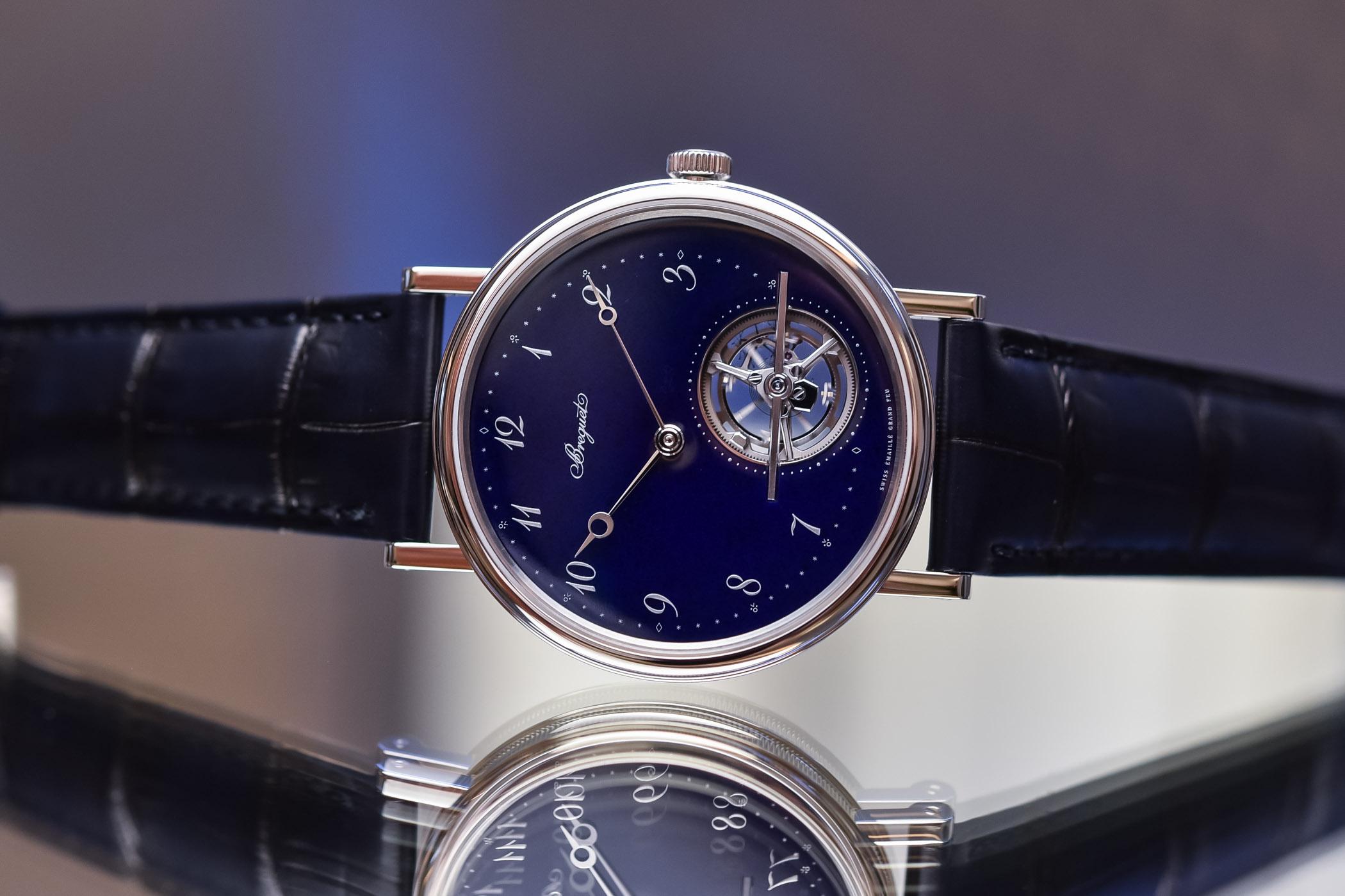 Breguet Classique Tourbillon Extra-Plat Blue 5367PT Blue Enamel Platinum