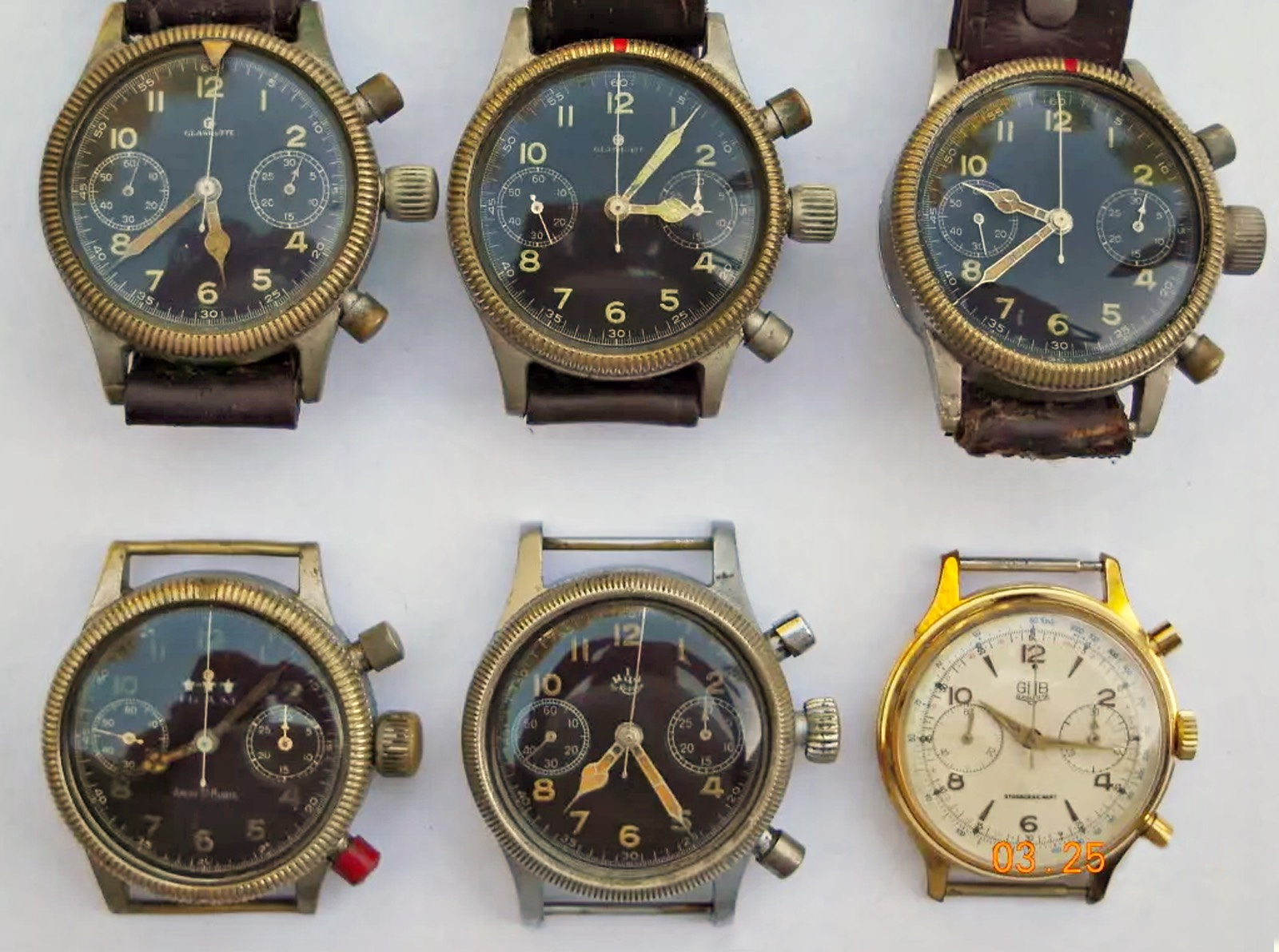 GUB Stossgesichert Calibre 64 Flyback Pilot Chronograph - Vintage Corner