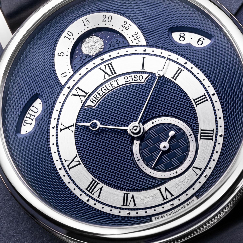 Breguet Classique 7337 Calendar and Moon new models 2020 - white gold blue dial 7337BBY59VU