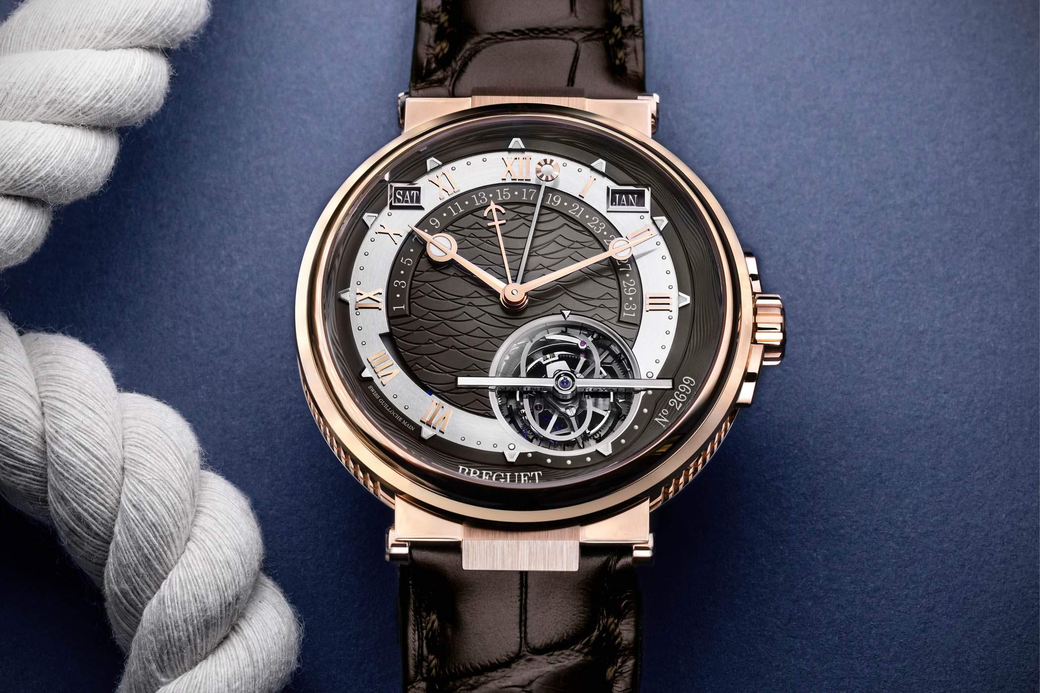 Breguet Marine Tourbillon Equation Marchante 5887 Slate Grey Dial - 5887BR92WV