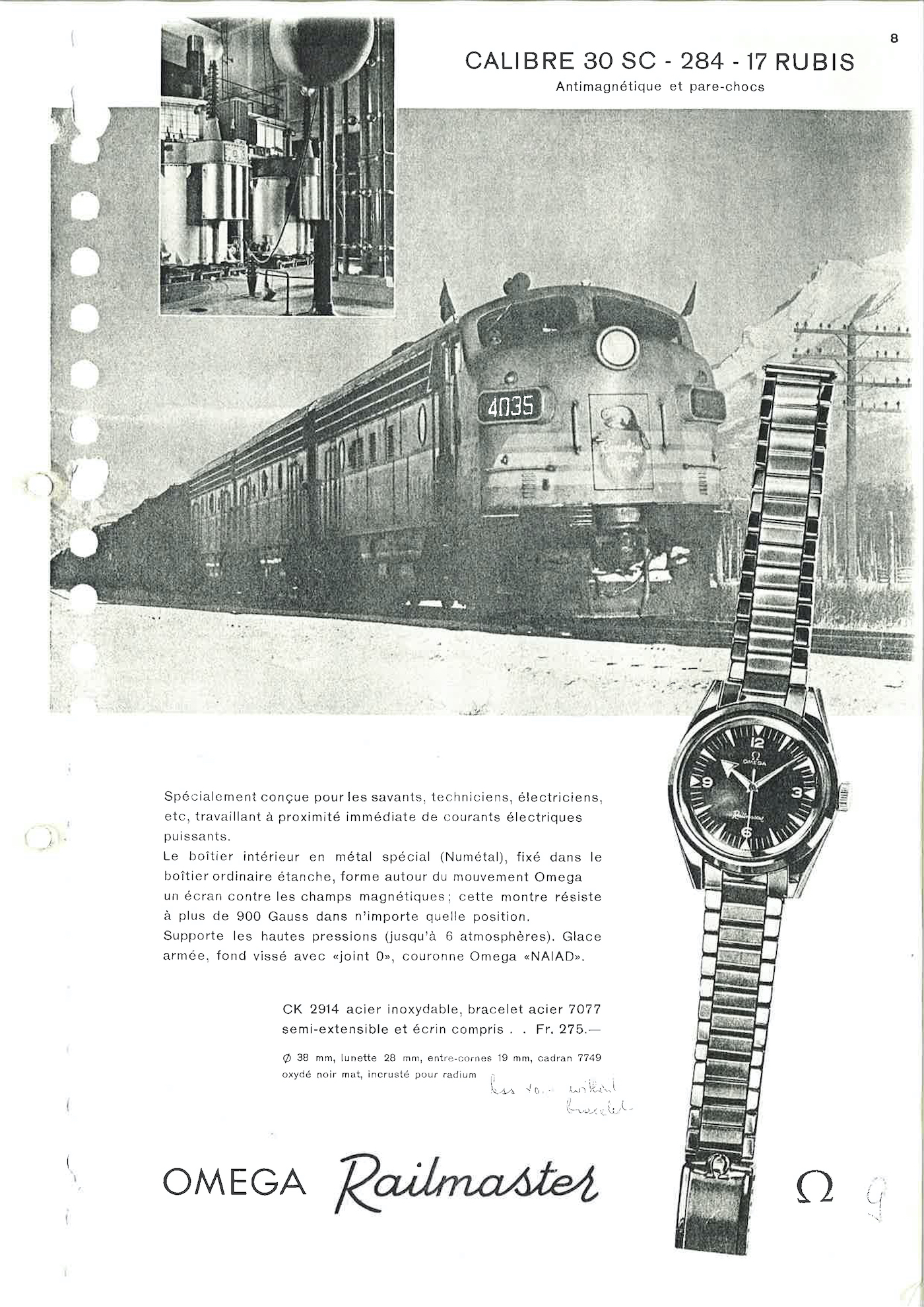 CK 2914 omega railmaster advertising