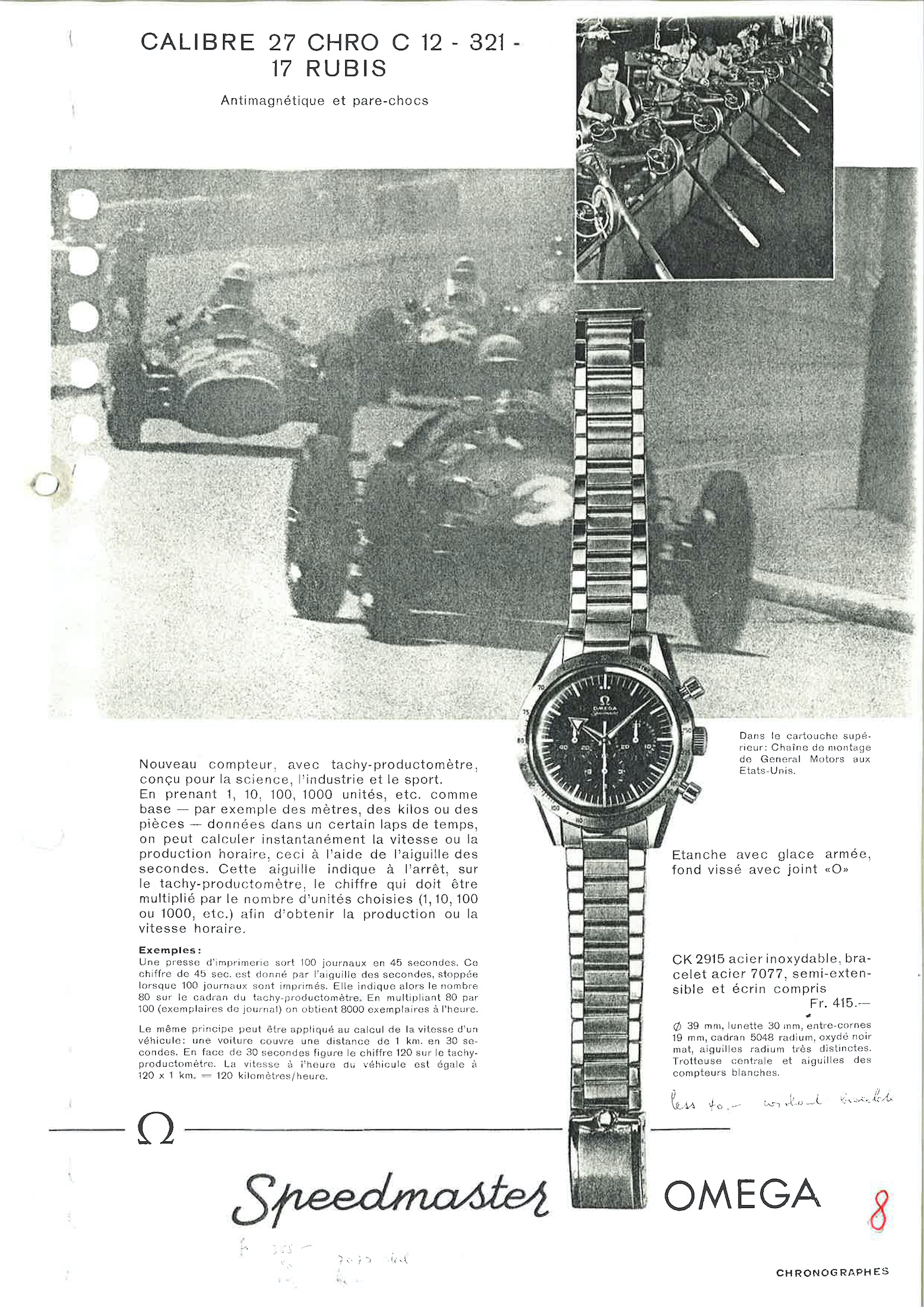 CK 2915 omega speedmaster advertising