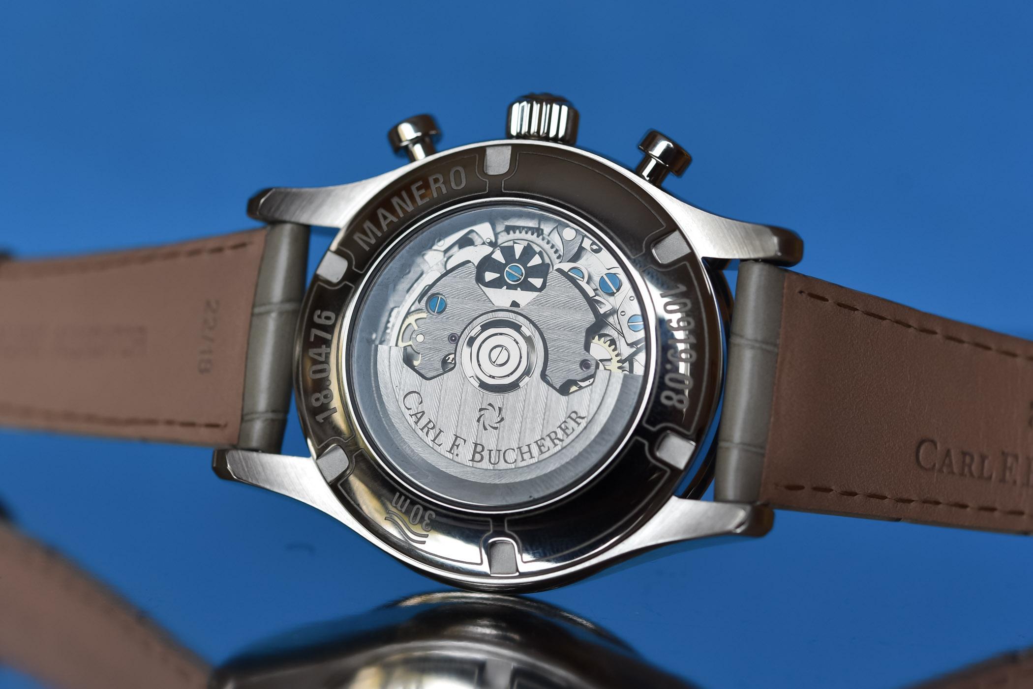 Carl F Bucherer Manero Flyback Chronograph Blue Dial Steel