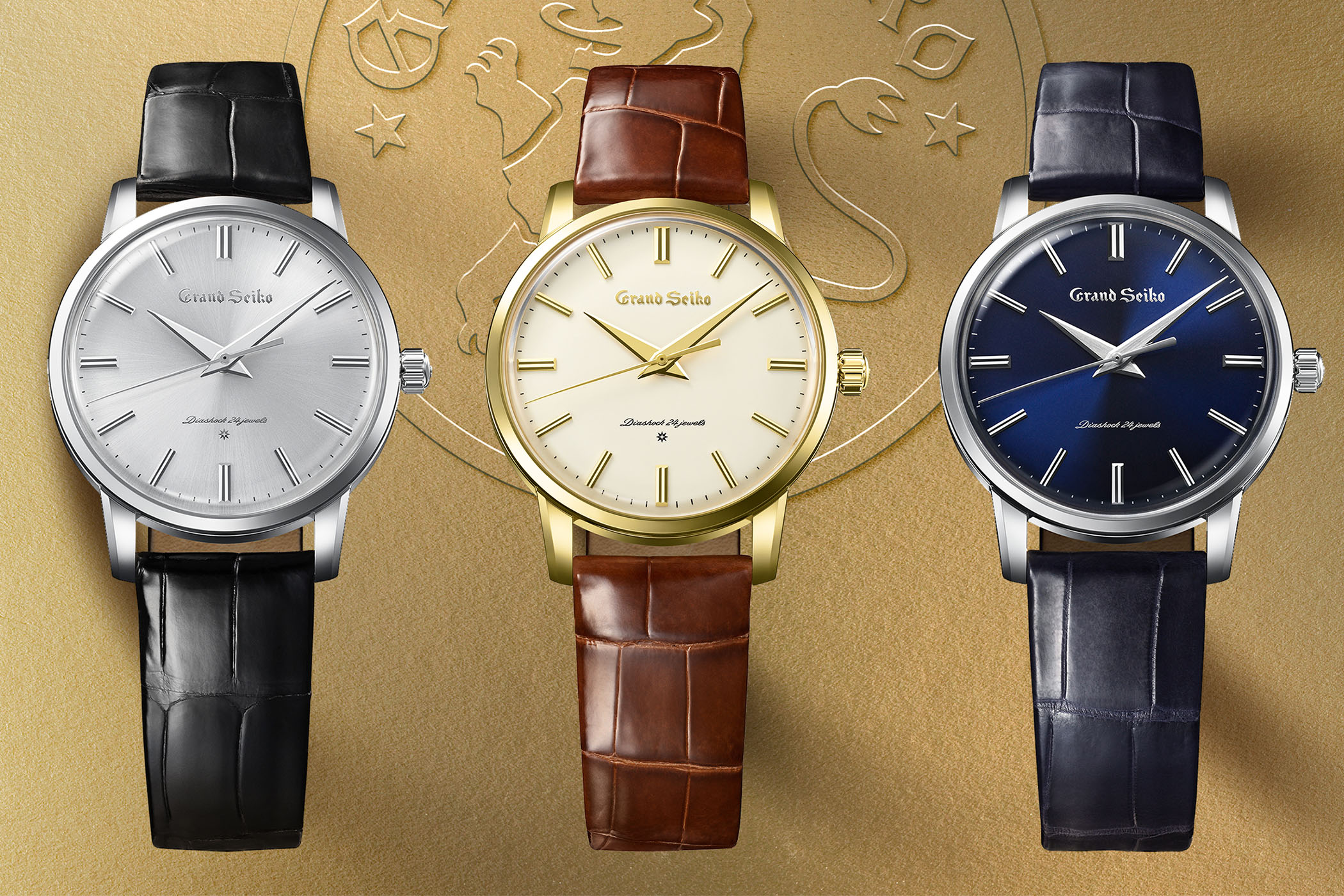 Grand Seiko 60th Anniversary Re-Creation of the first 1960 - SBGW257 SBGW258 SBGW259