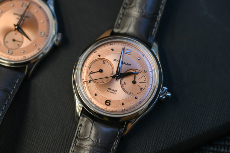 Montblanc Heritage Monopusher Chronograph Steel Salmon // Review