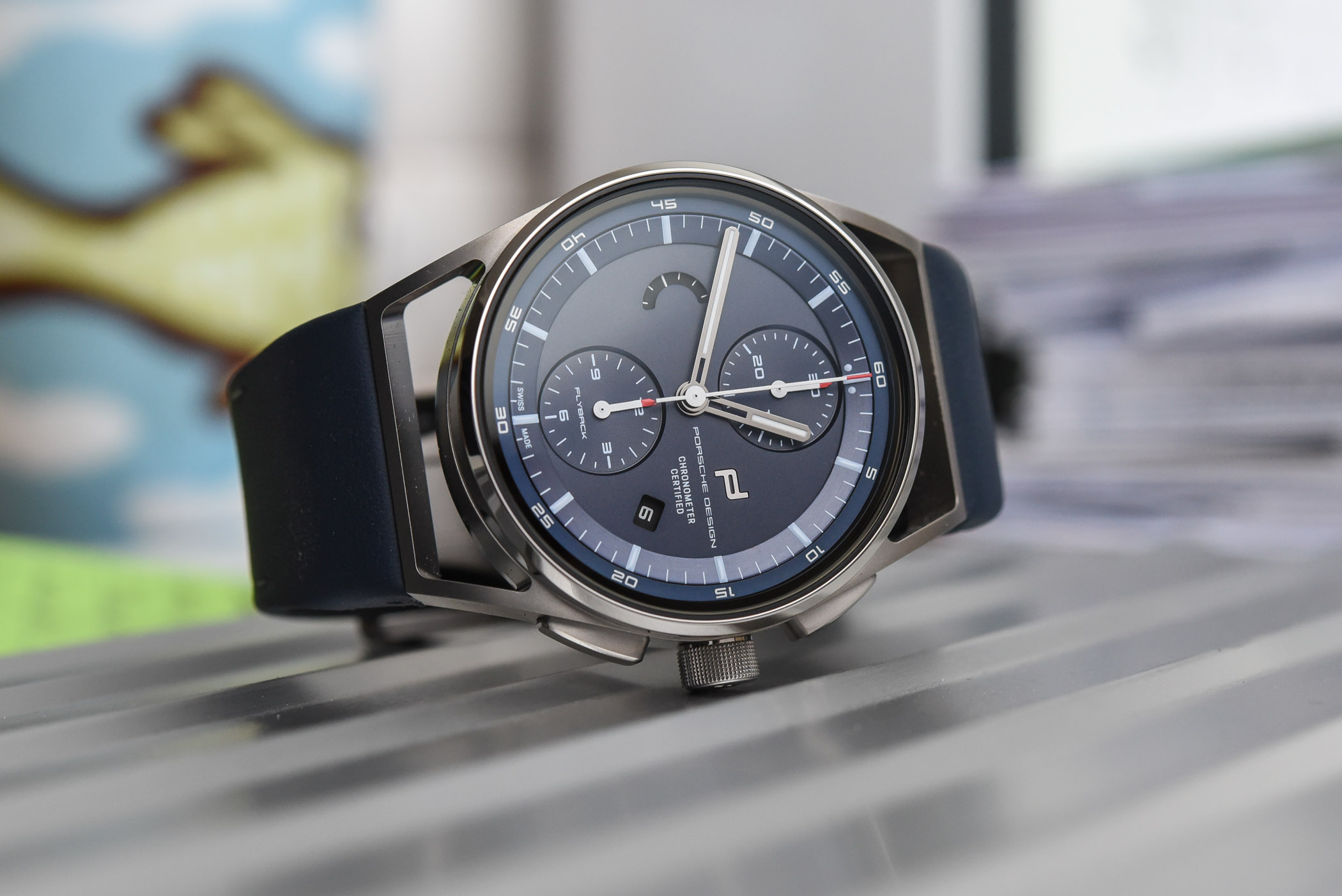 Porsche Design 1919 Chronotimer Flyback Blue and Leather