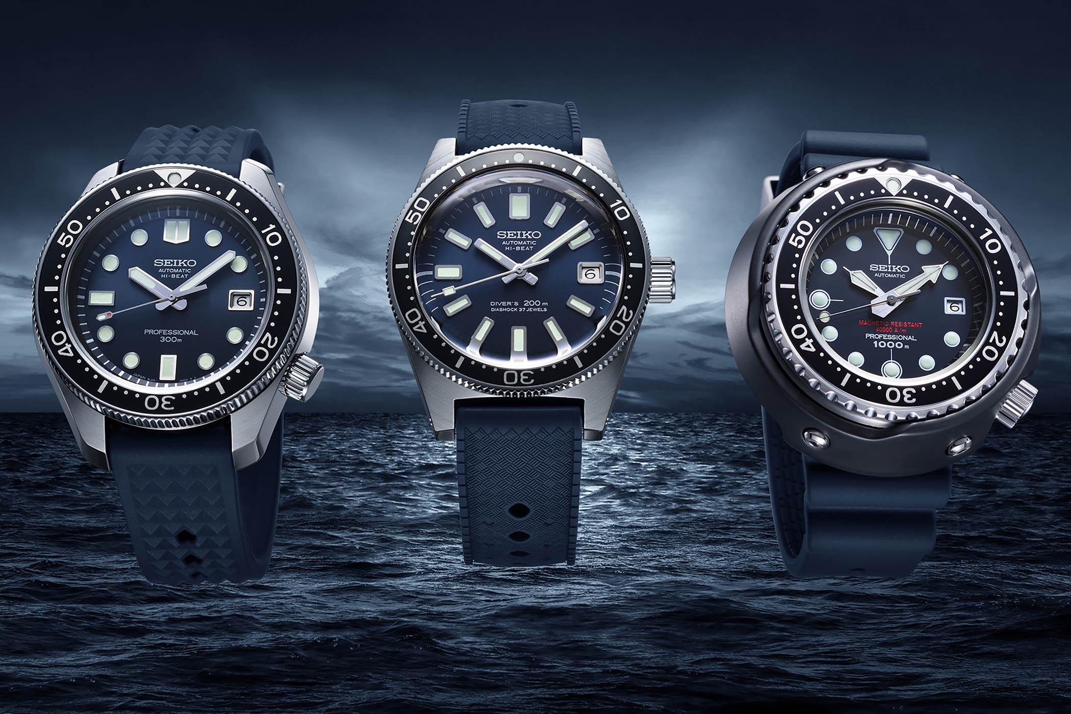 Seiko Prospex Diver 55th Anniversary Re-Editions - 1965 Diver SLA037 - 1968 Hi-Beat Diver SLA039 - 1975 Tuna 600m Diver SLA041