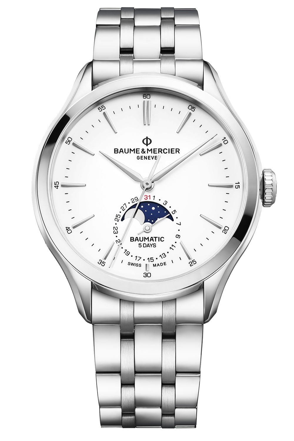 2020 Baume Mercier Baumatic moonphase date - 2